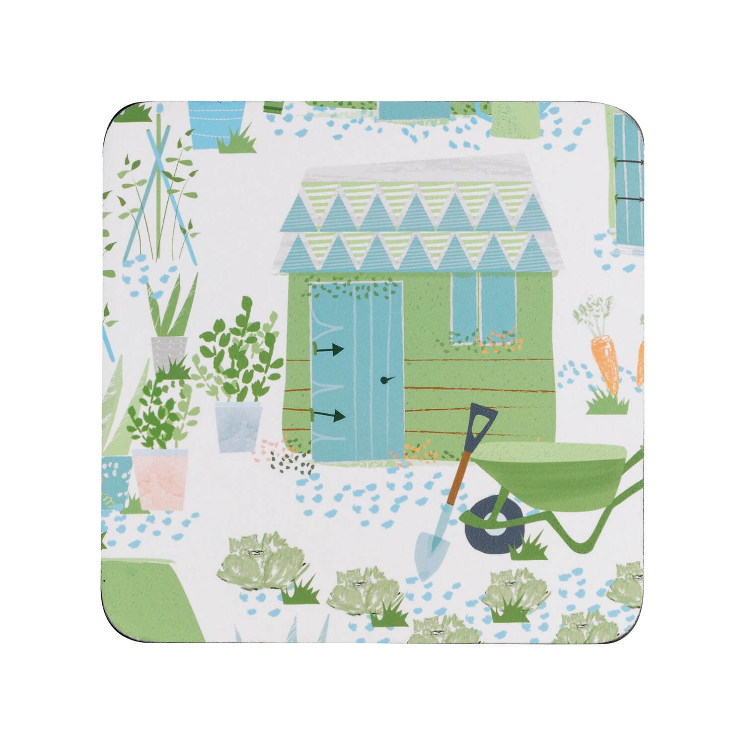 Image of Denby Allotment Coasters, Green