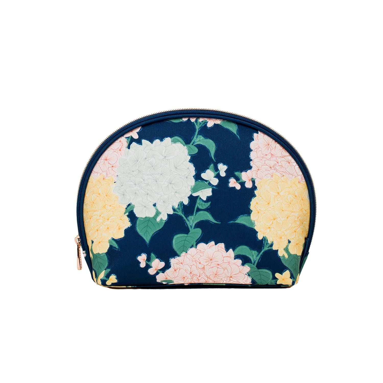 Image of Danielle Exclusive Creations Oval Beauty Bag, Oh Fleur Hydrangea Print
