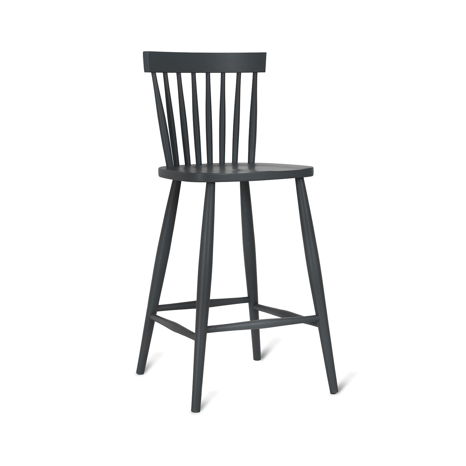 Image of Garden Trading Spindle Bar Stool, Beech, Carbon