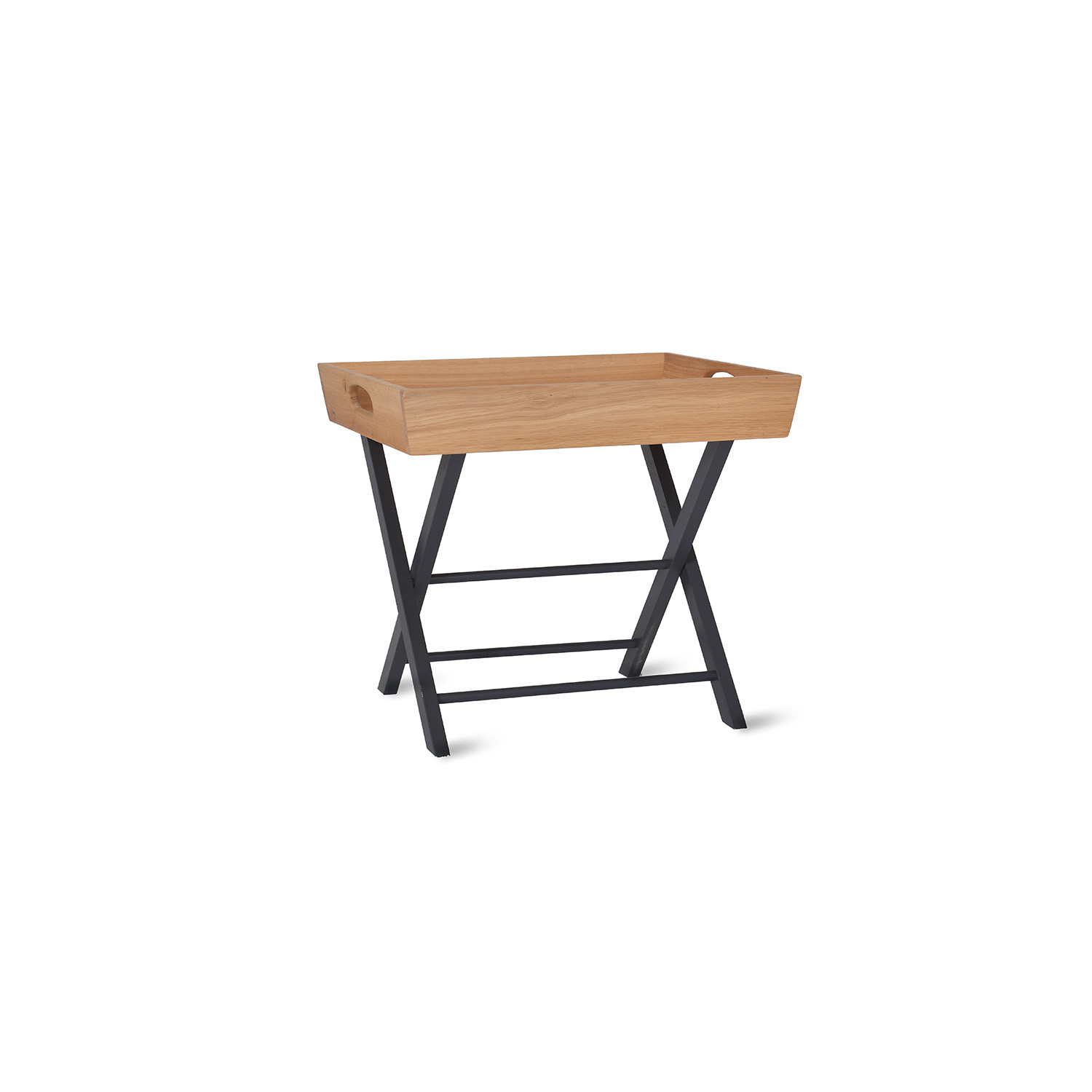 Image of Garden Trading Butlers Side Table, Oak, Carbon