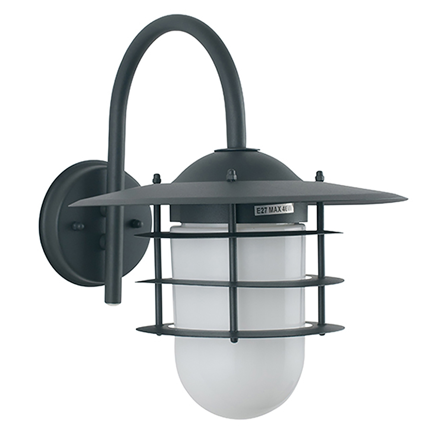 Image of Casa Hanging Outdoor Wall Light, Grey