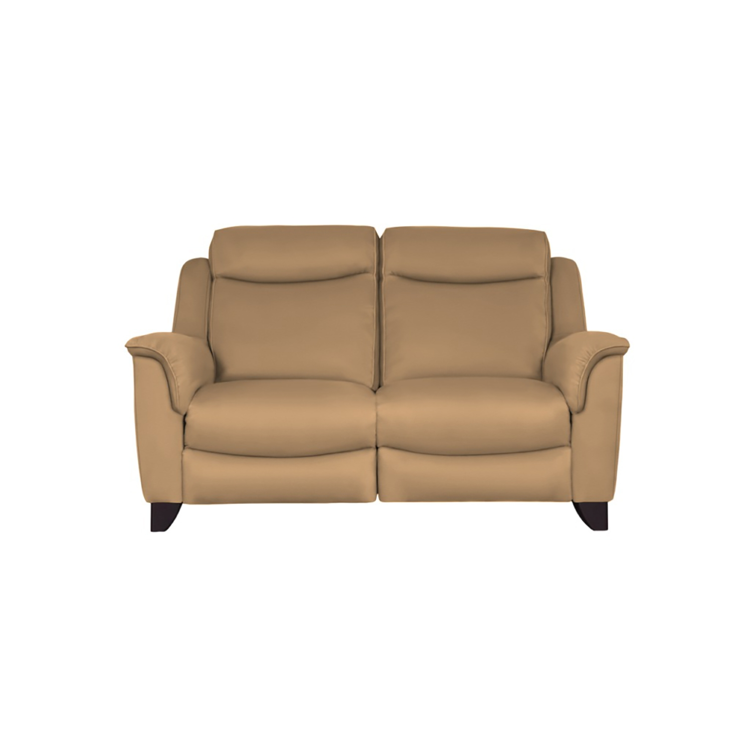 Image of Parker Knoll Manhattan 2 Seater Leather Sofa, Caramel