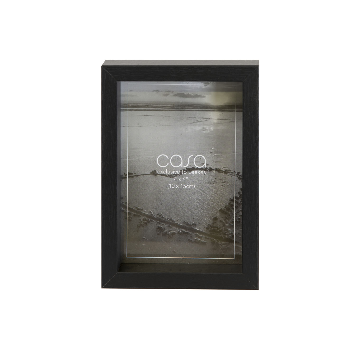 "Image of Casa Deep Photo Frame, 4"" x 6"" (10 x 15cm), Black"