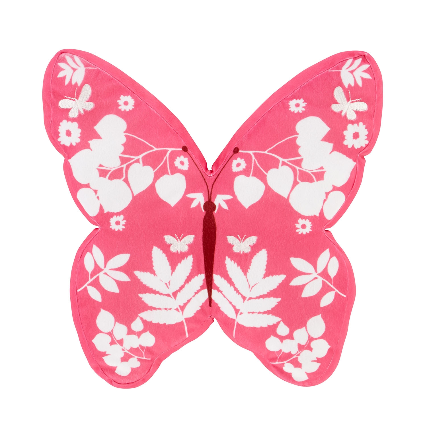 Image of Catherine Lansfield Butterfly 3D Cushion, 40cm x 40cm, Pink