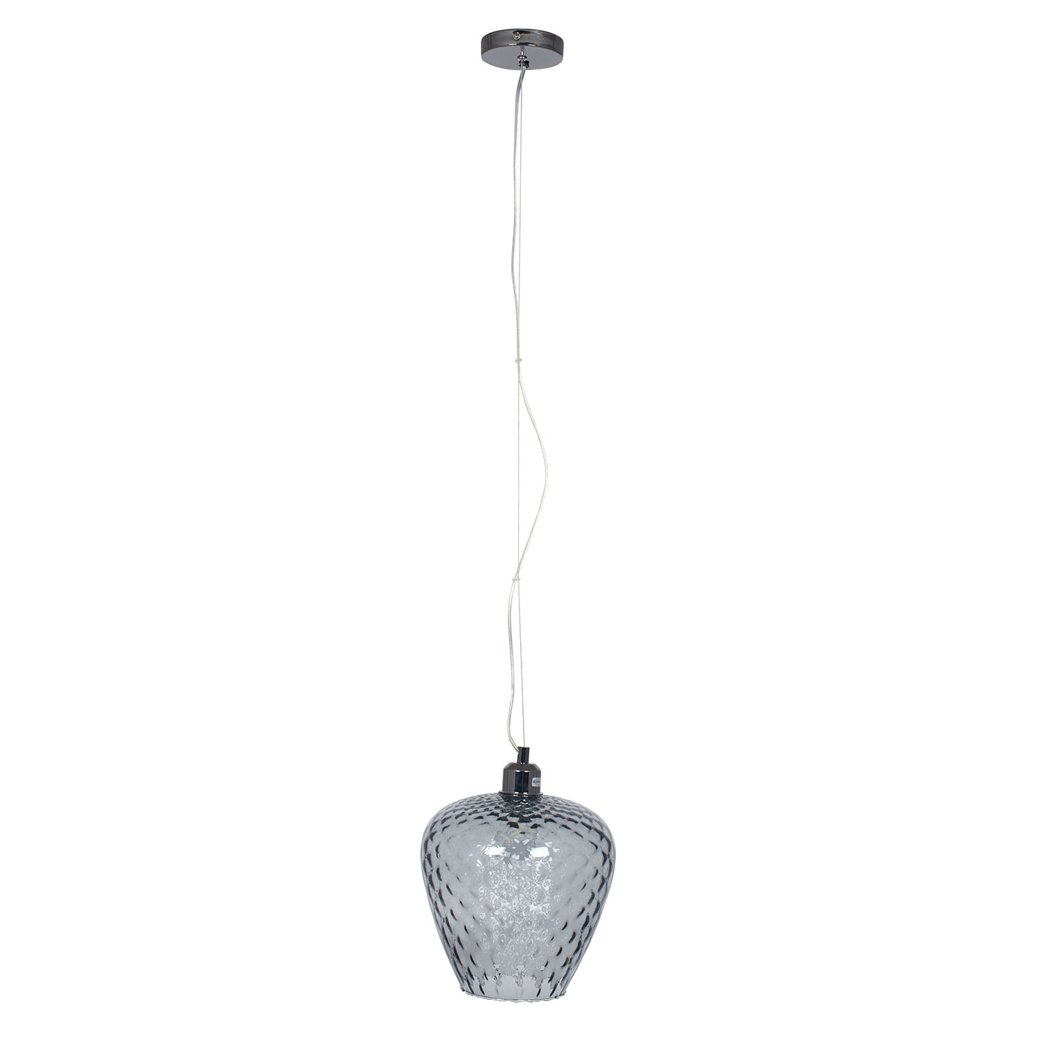Image of Aimbry Textured Glass Pendant, Smoked