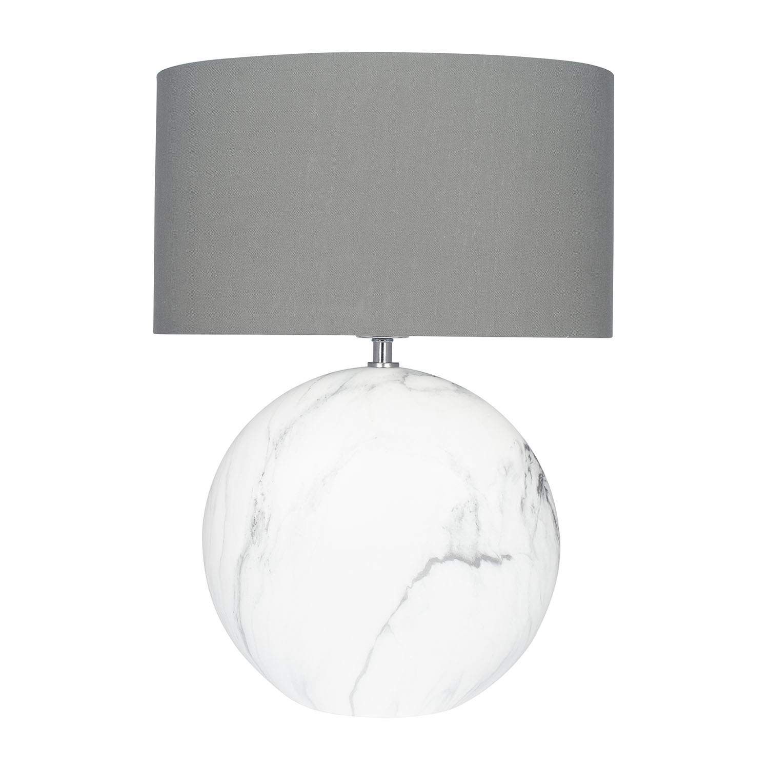 Image of Aimbry Marble Effect Ceramic Table Lamp, Grey