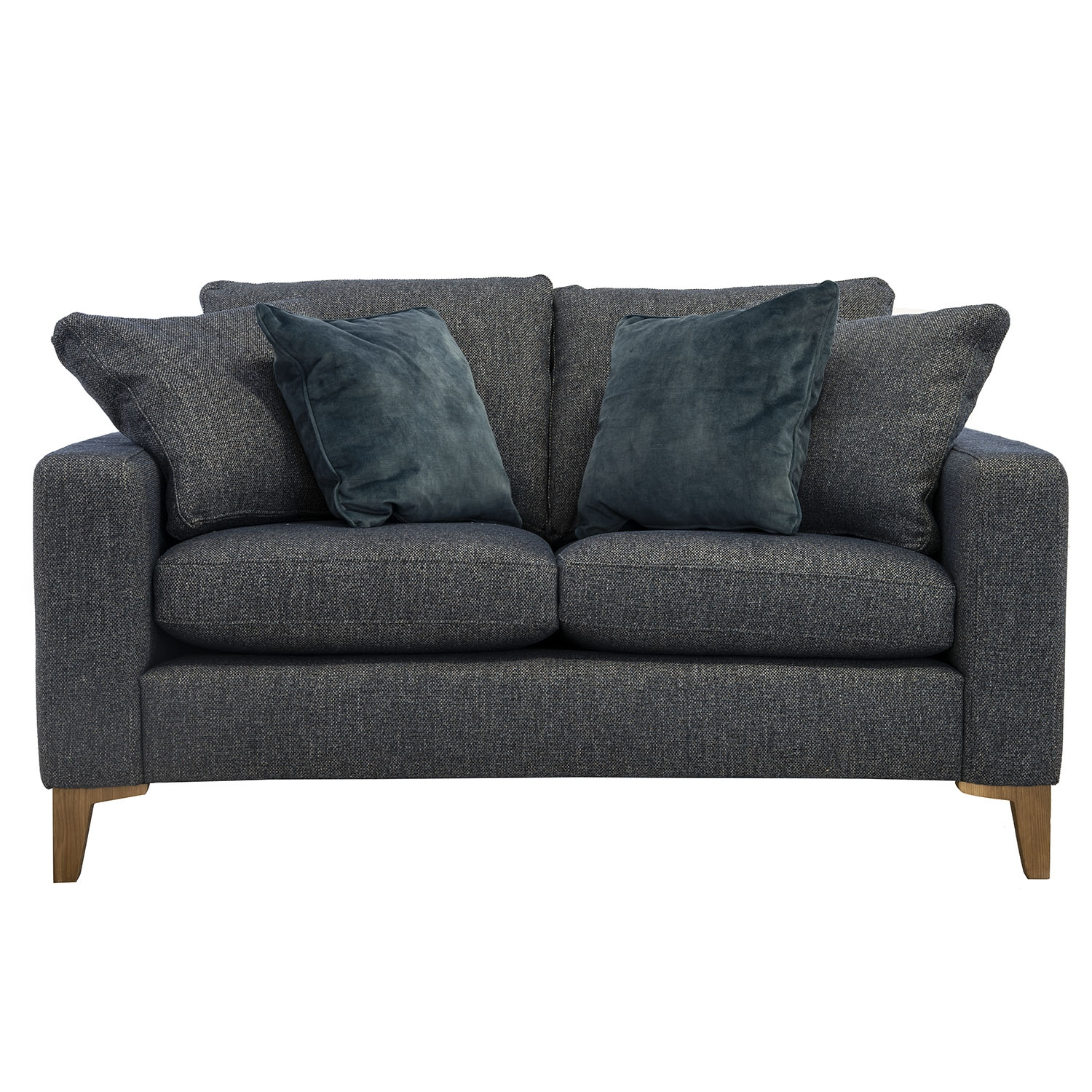Casa George 2 Seater Fabric Sofa, Sousel Marine/ocean Velvet