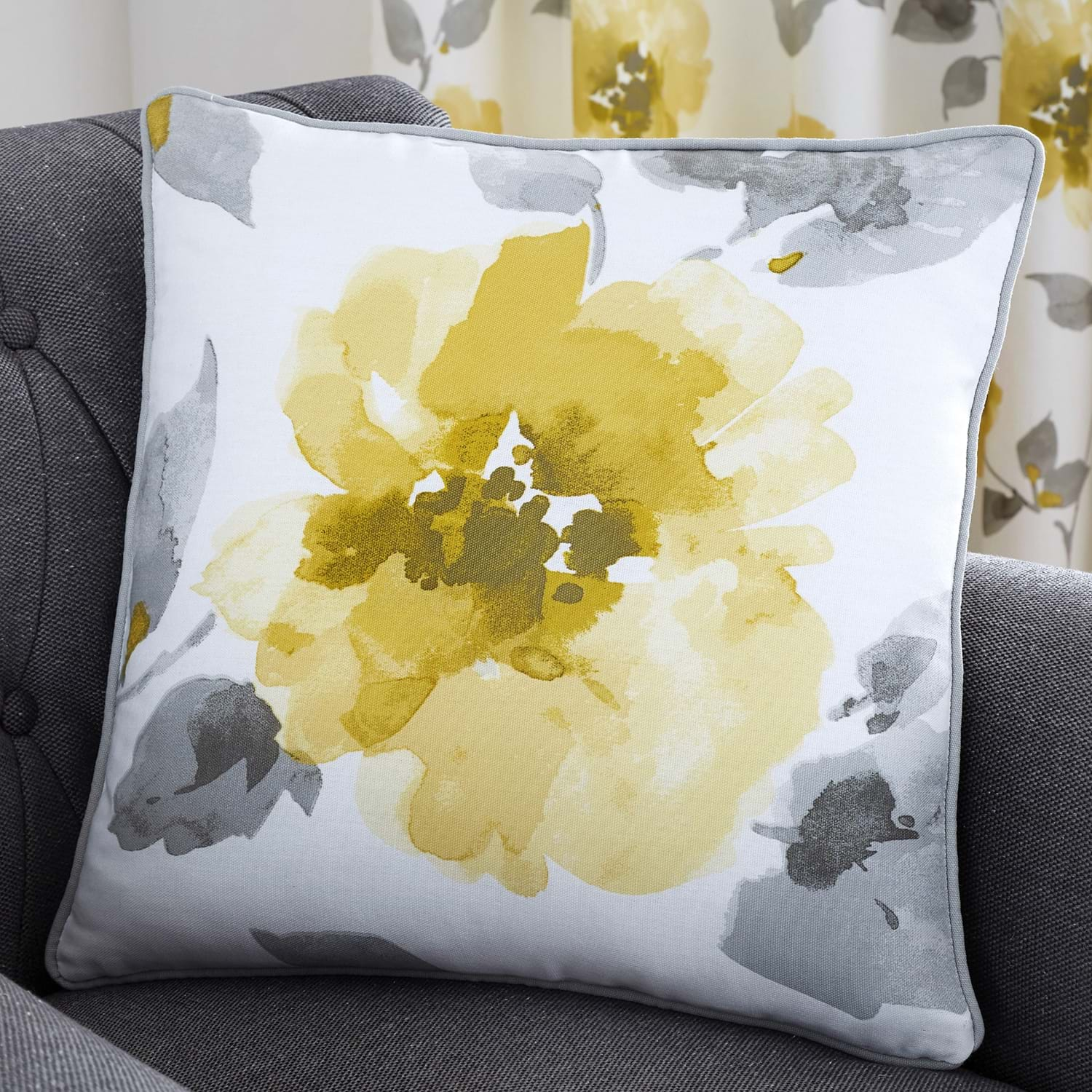 Image of Adrianna Cushion, 43x43cm, Ochre