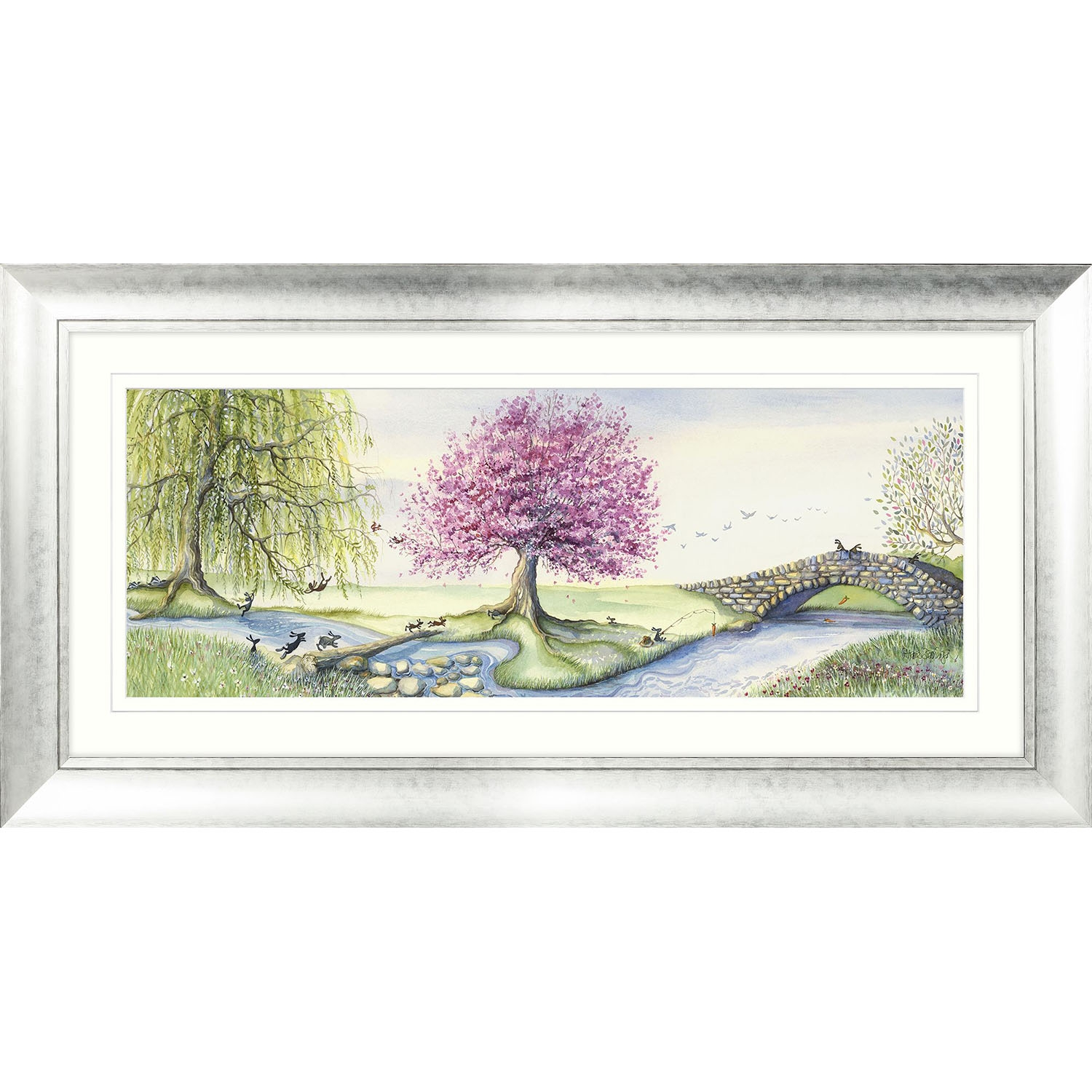 Image of Catherine Stephenson Riverbank Bunnies Framed Art, Multi