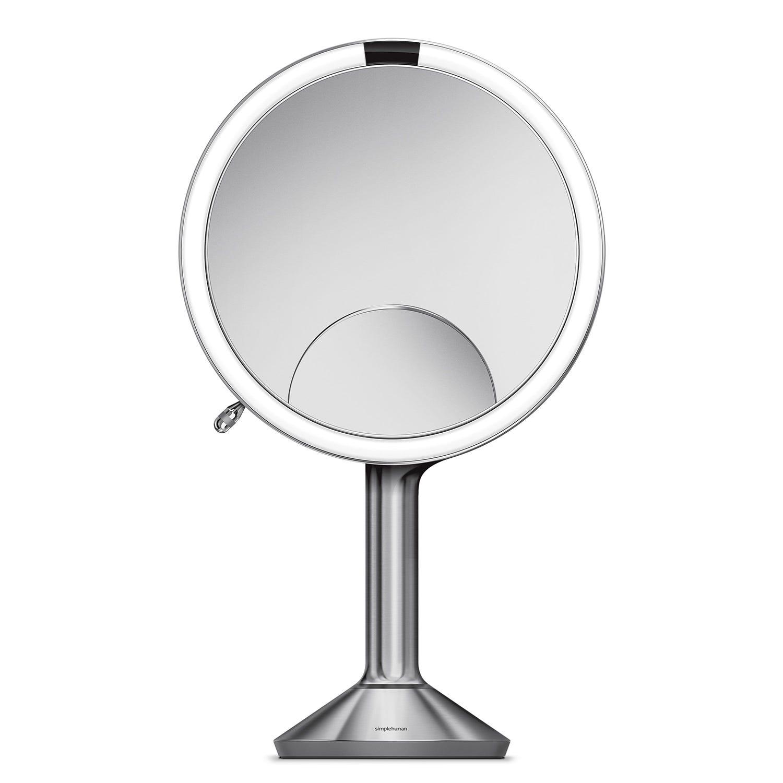 Image of Simplehuman 20cm Sensor Mirror Trio View, Brushed Steel