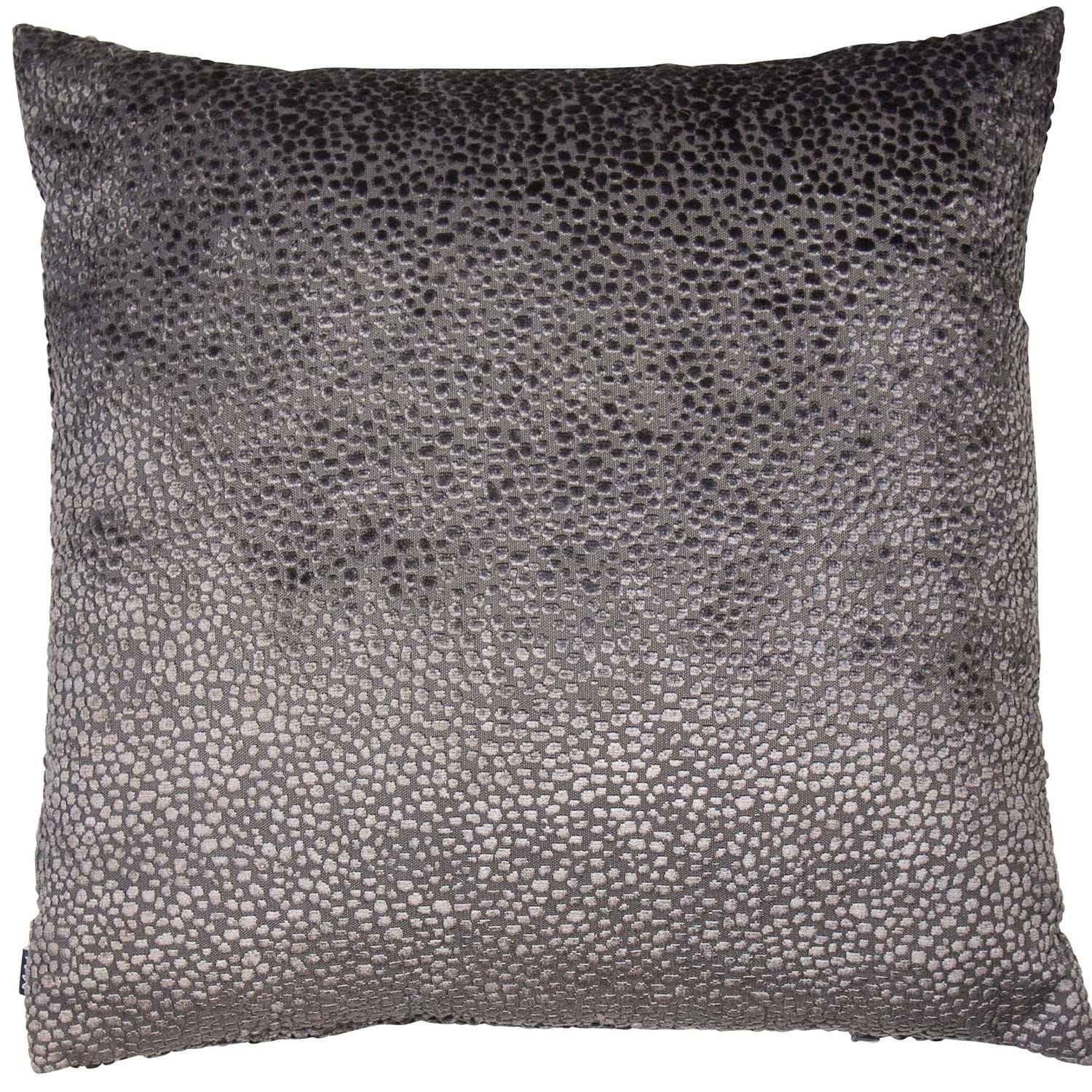 Image of Malini Bingham Cushion, 43cm x 43cm, Silver and Brown
