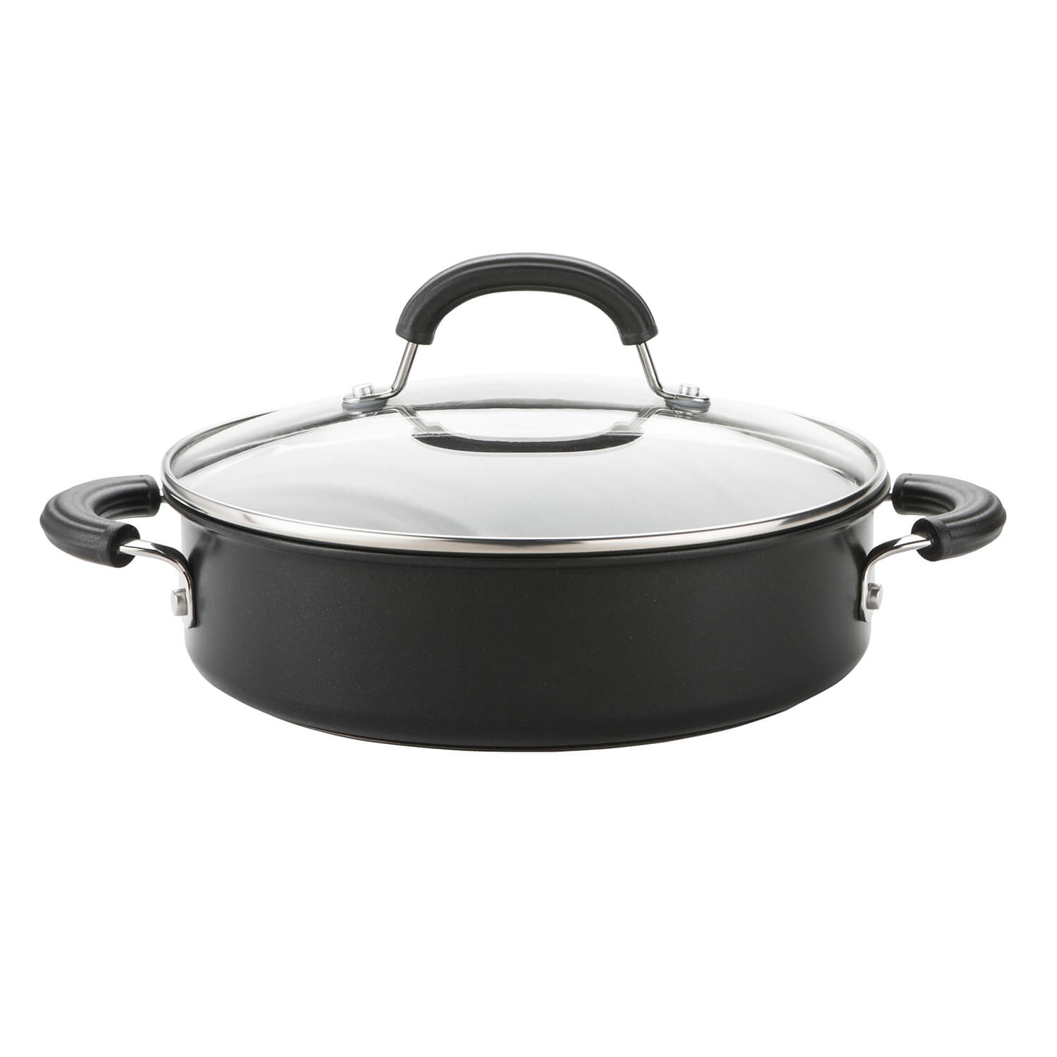 Image of Circulon Shallow Casserole 24cm, Black