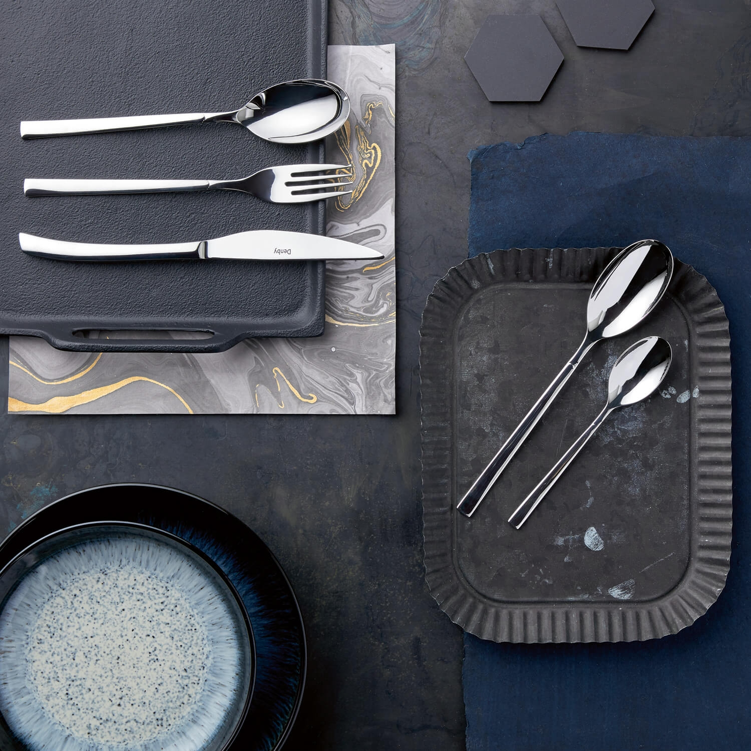 Image of Denby Spice 16 Piece Cutlery Set, Stainless Steel
