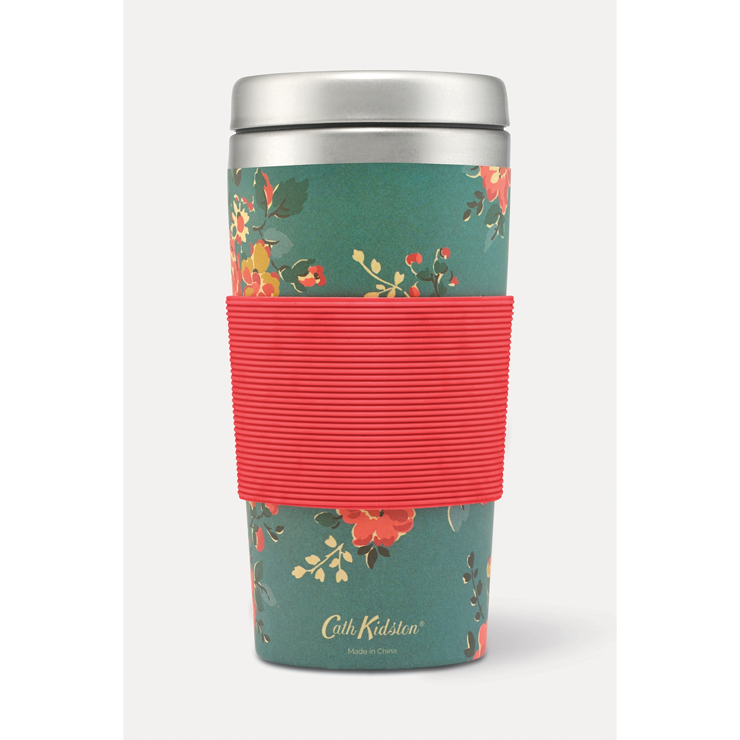 Image of Cath Kidston Travel Cup Kingswood Rose, Teal