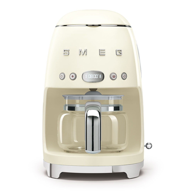 Image of Smeg DCF02CRUK Retro Style Coffee Machine, Cream