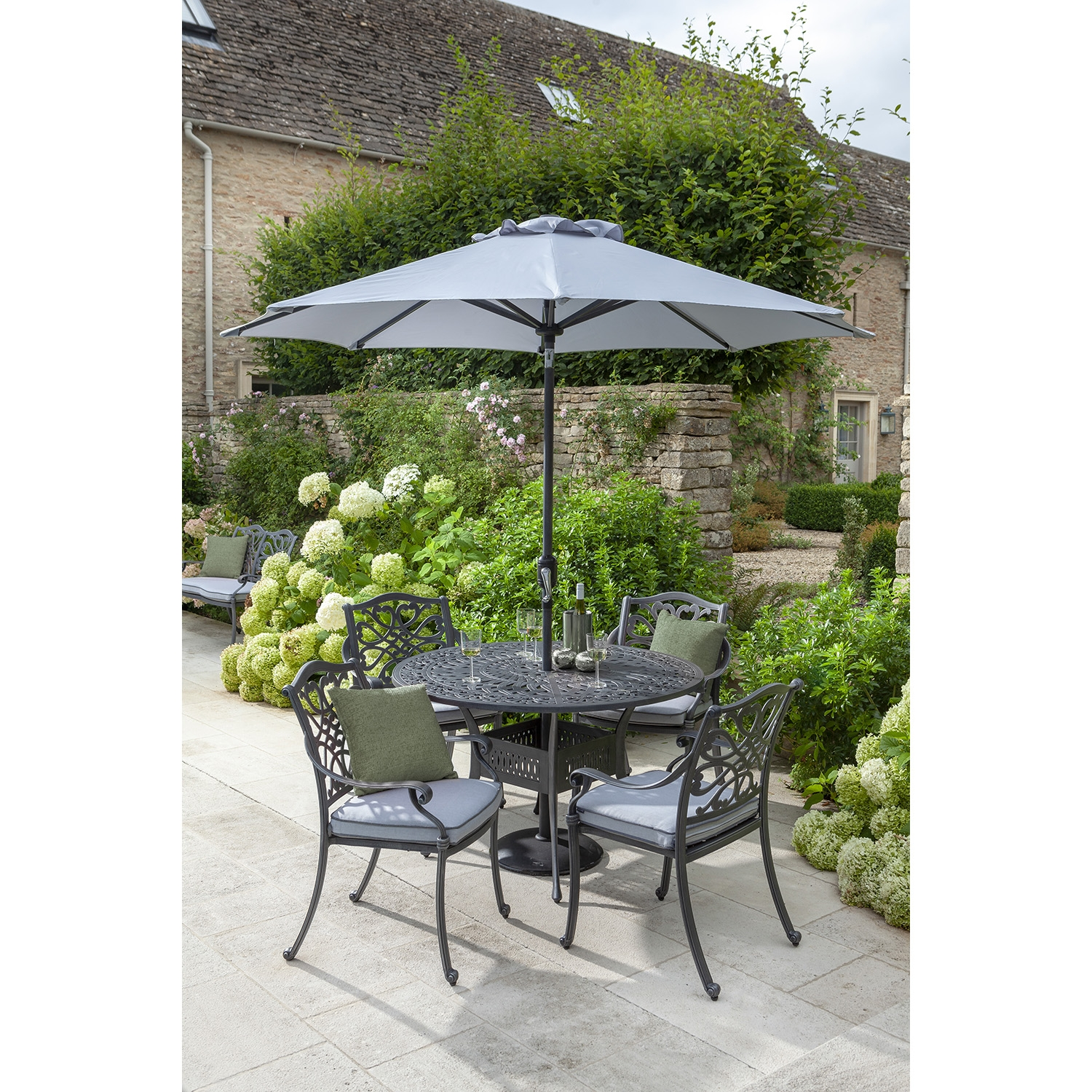 Image of Hartman Capri Garden Dining Set, 4 Seater