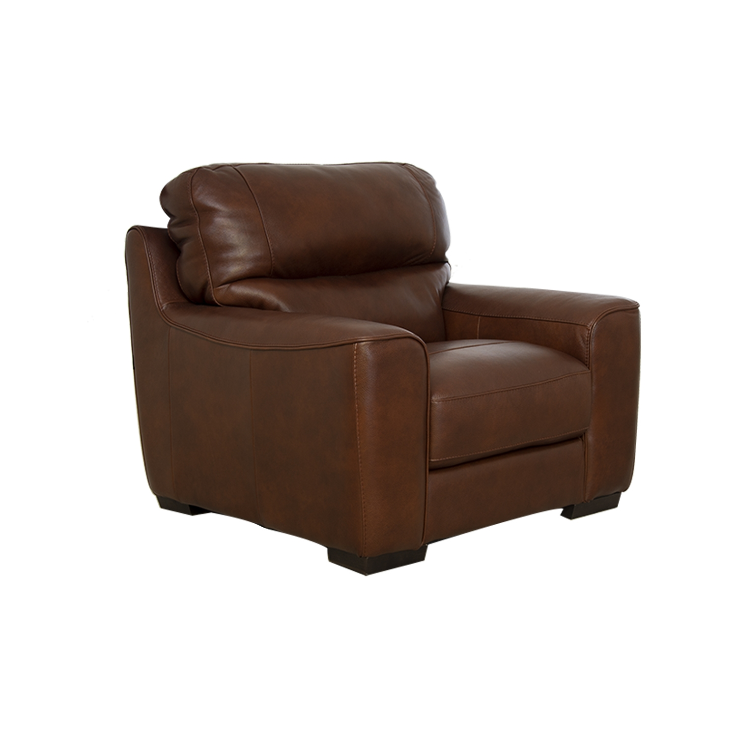 Image of Italia Living Prato Leather Armchair, Brown