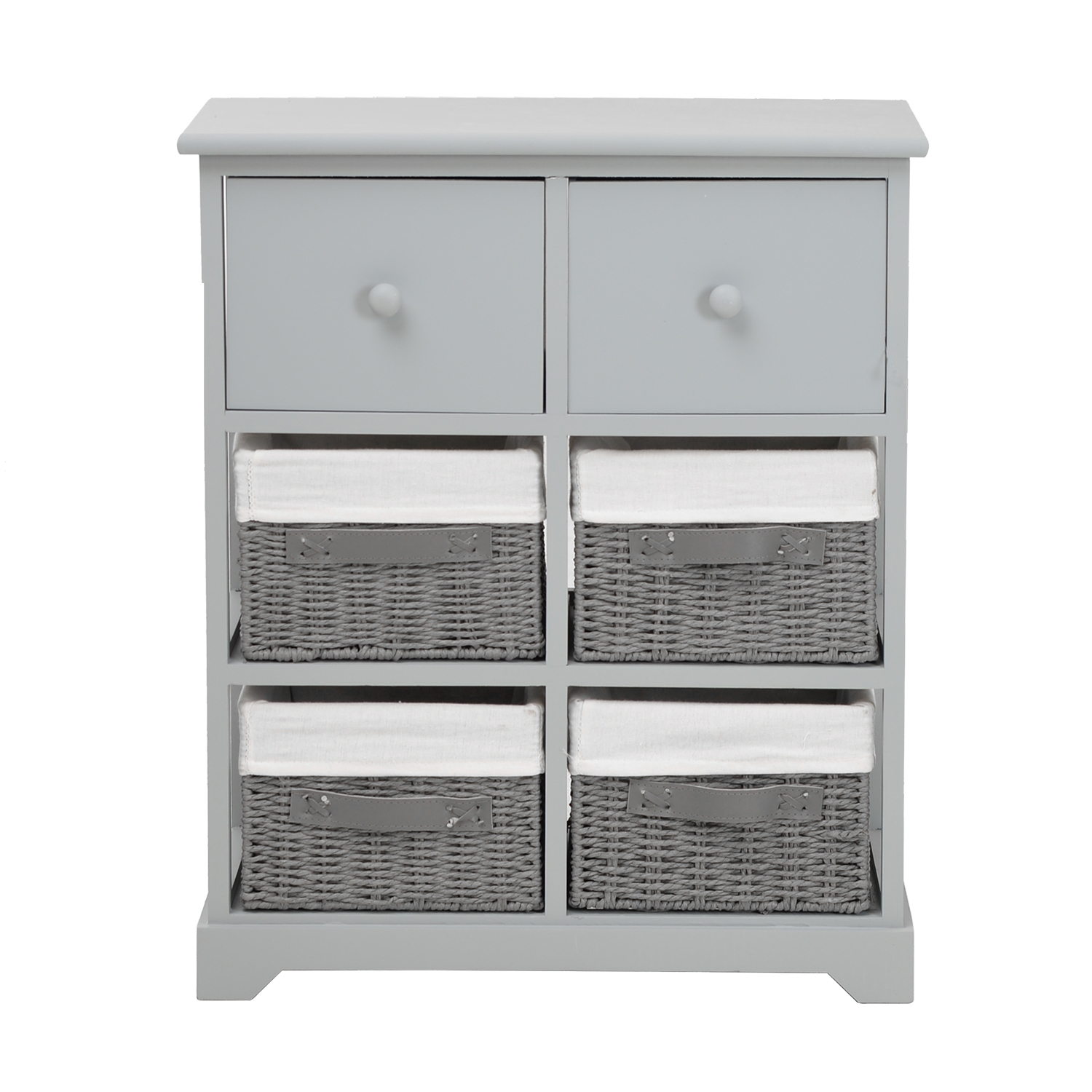 Image of Casa Unit With 6 Basket Drawers, Grey