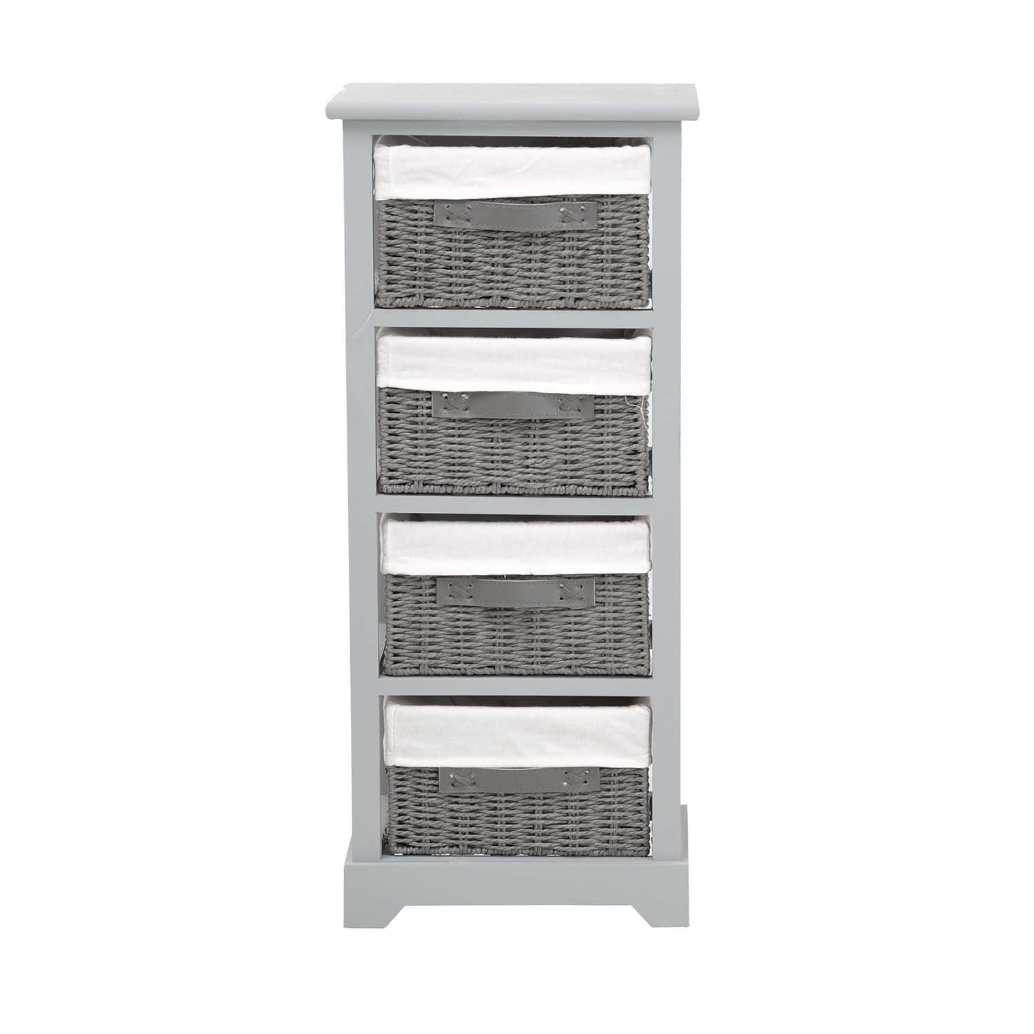 Image of Casa Tall Unit With 4 Baskets, Grey