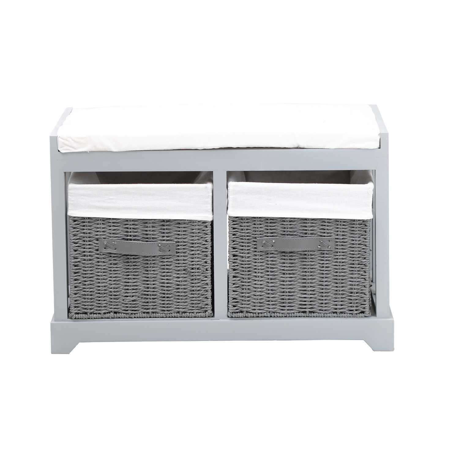 Image of Casa Bench With Drawers, Grey