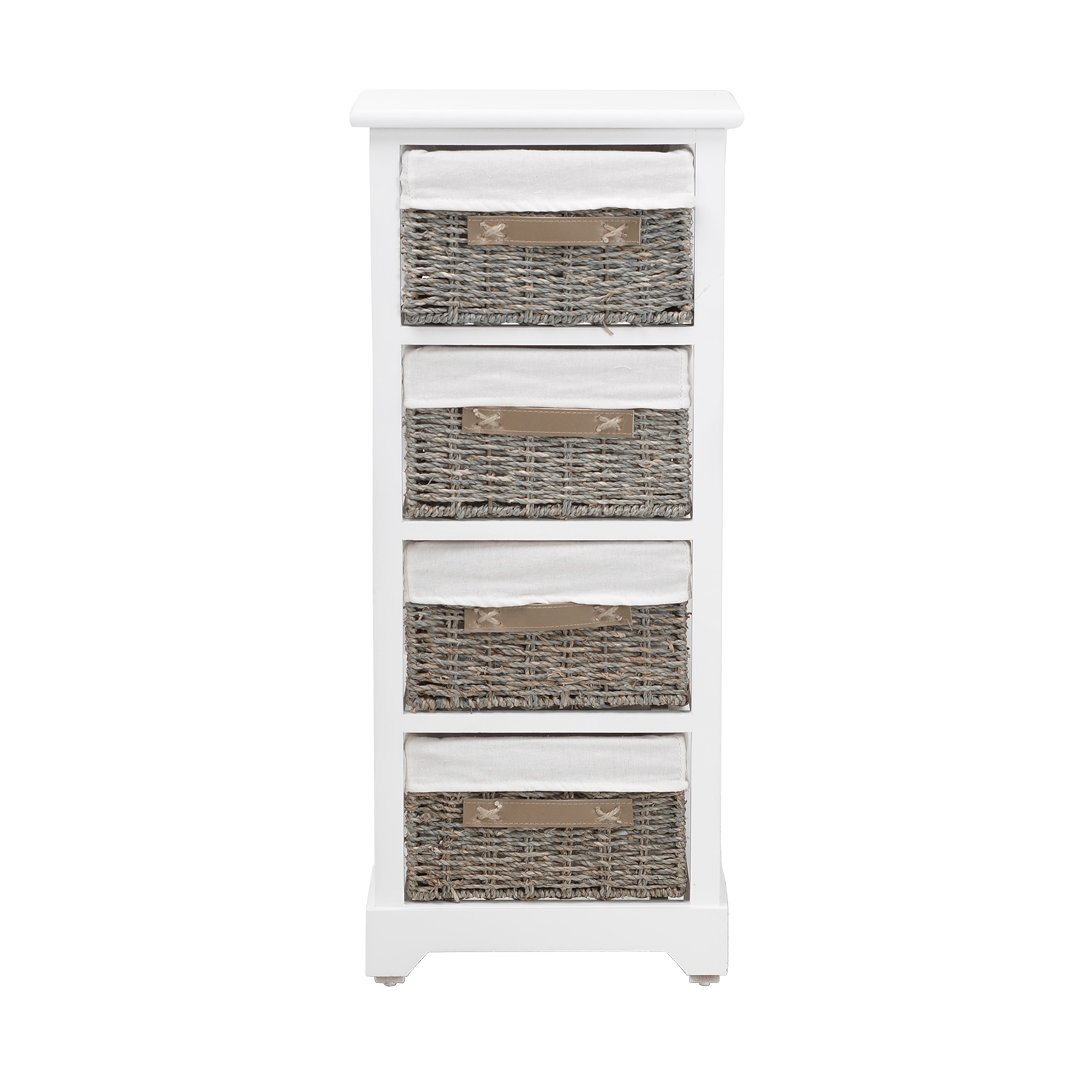 Image of Casa Tall 4 Drawer Storage Unit, White