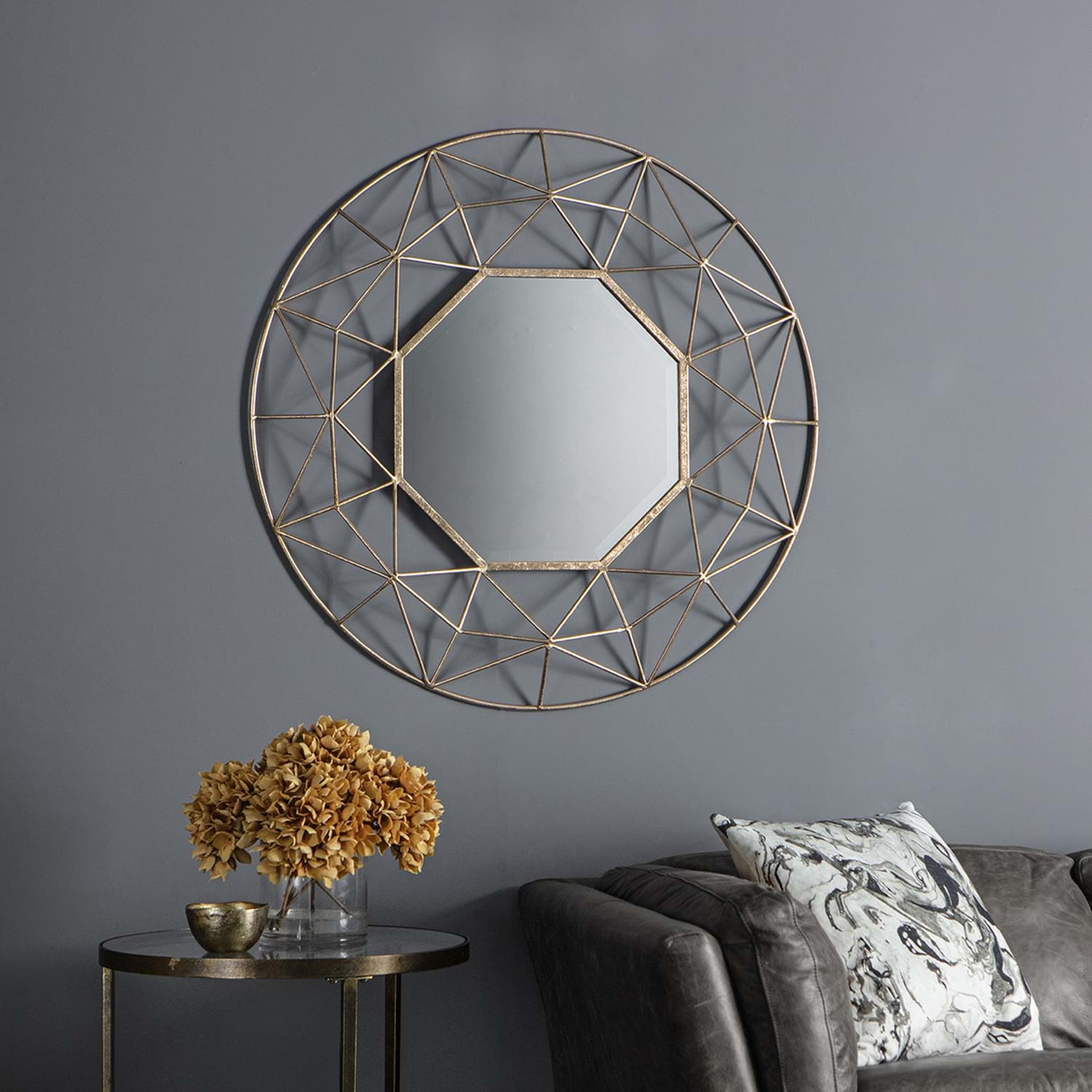 Image of Gallery Andromeda Mirror, Gold