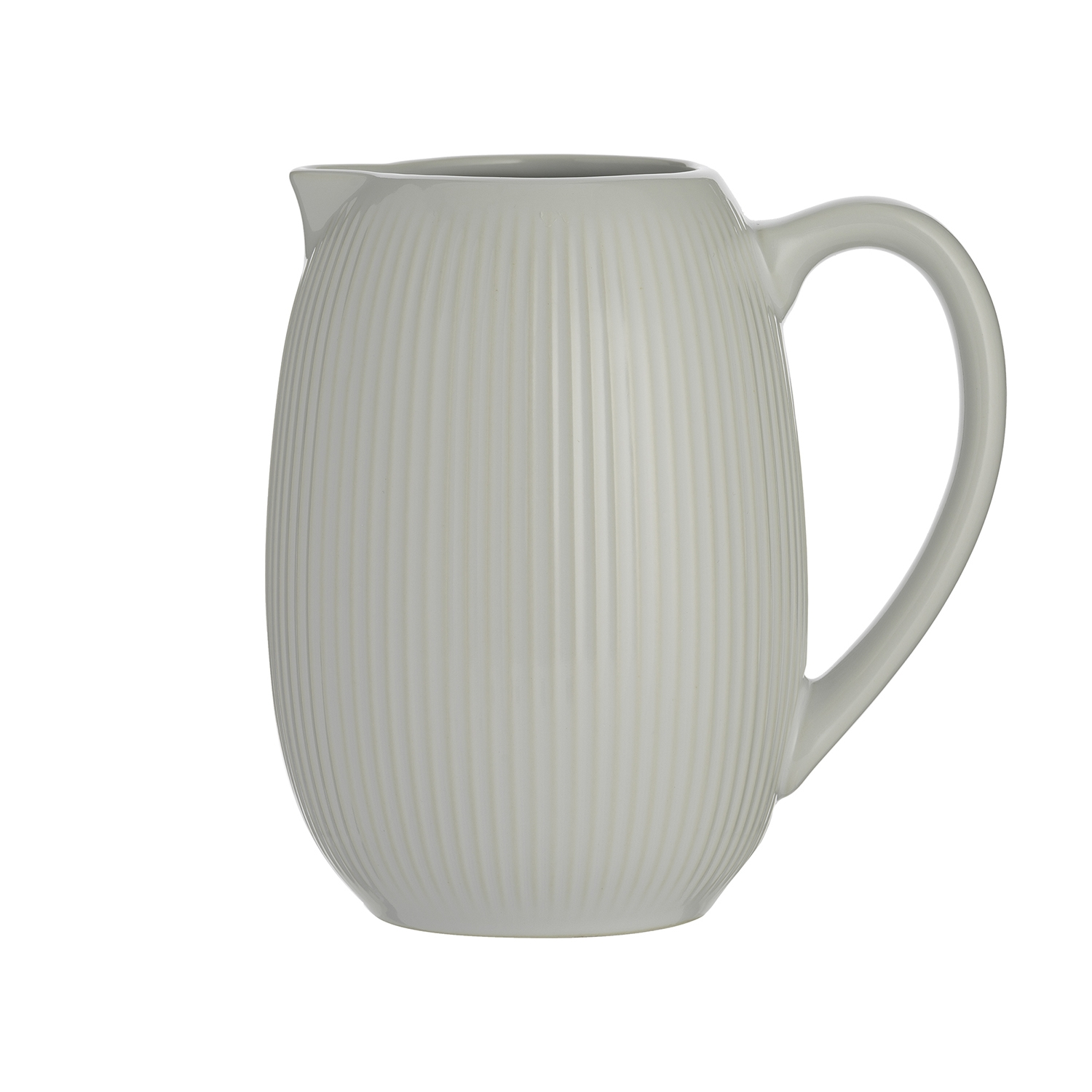 Image of LINEAR PITCHER JUG WHITE