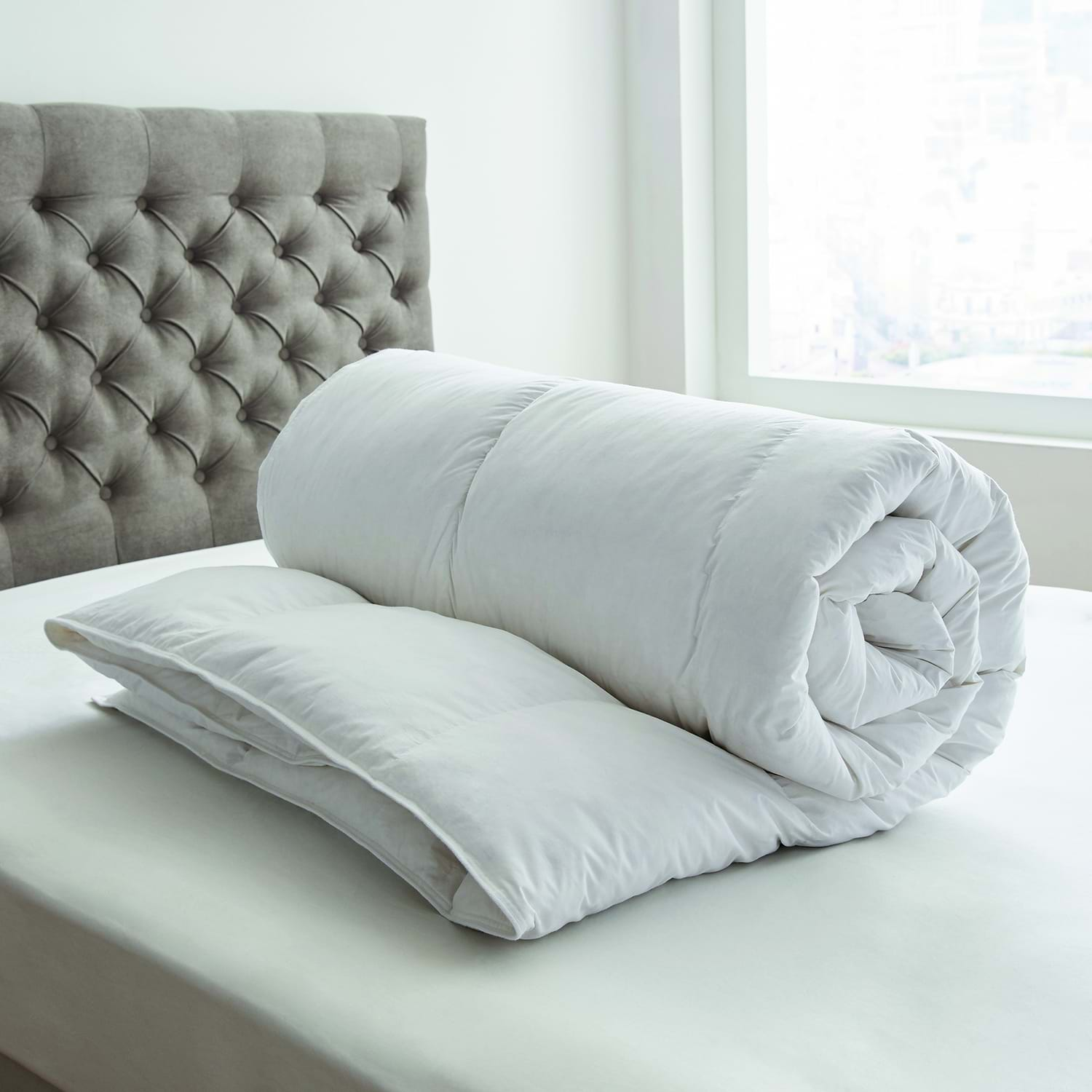 Image of Bedeck Goose Feather and Down Duvet, 13.5 Tog, Single, White