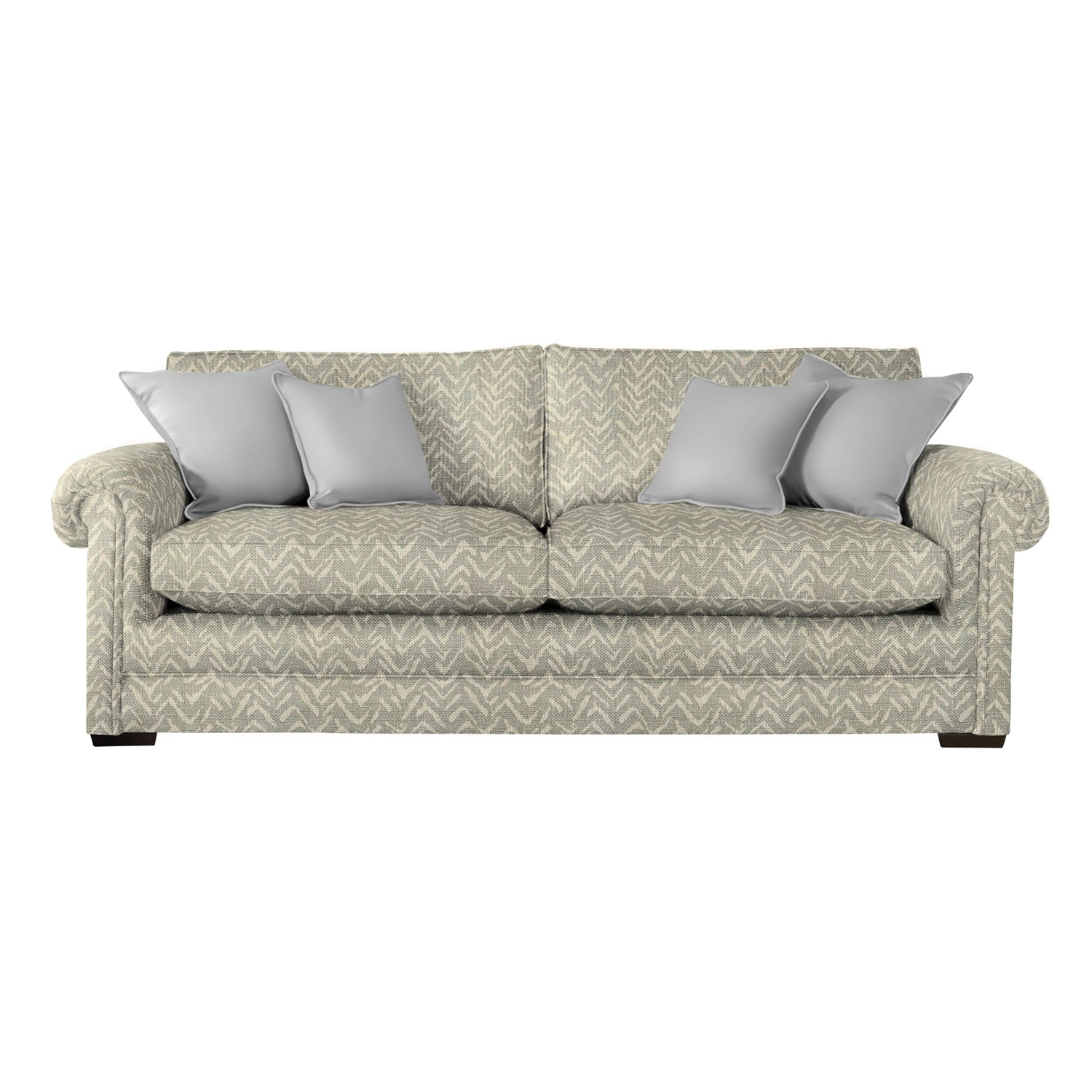 Image of Parker Knoll Canterbury Grand 3 Seater Fabric Sofa, Gower Grey