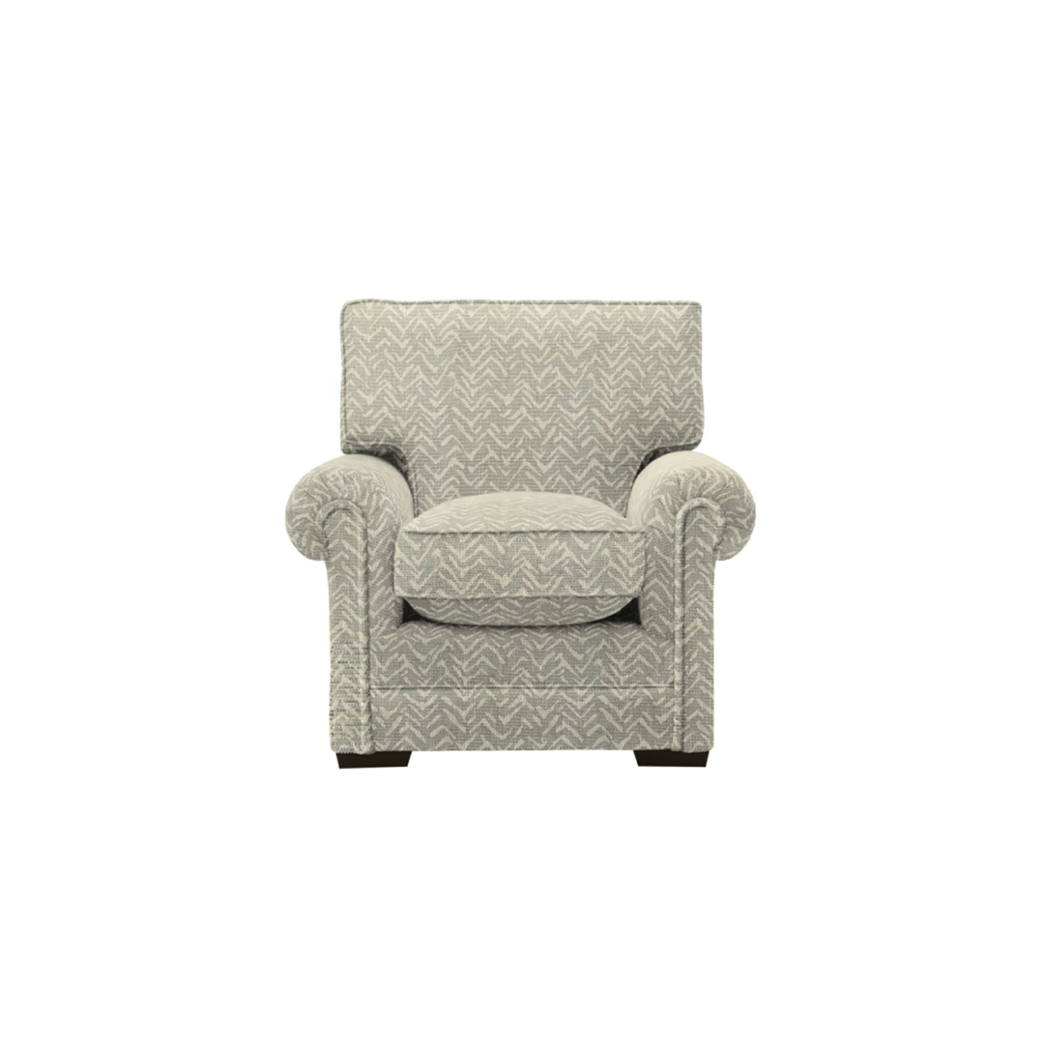 Image of Parker Knoll Canterbury Fabric Armchair, Gower Grey