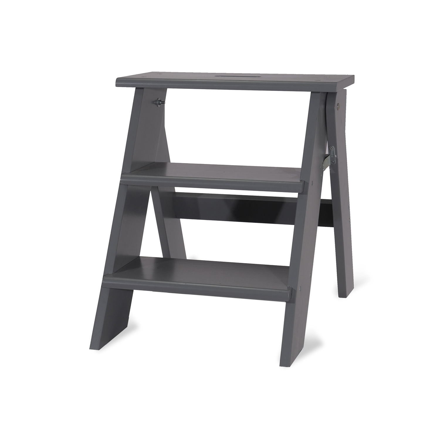 Image of Garden Trading Step Stool, Charcoal