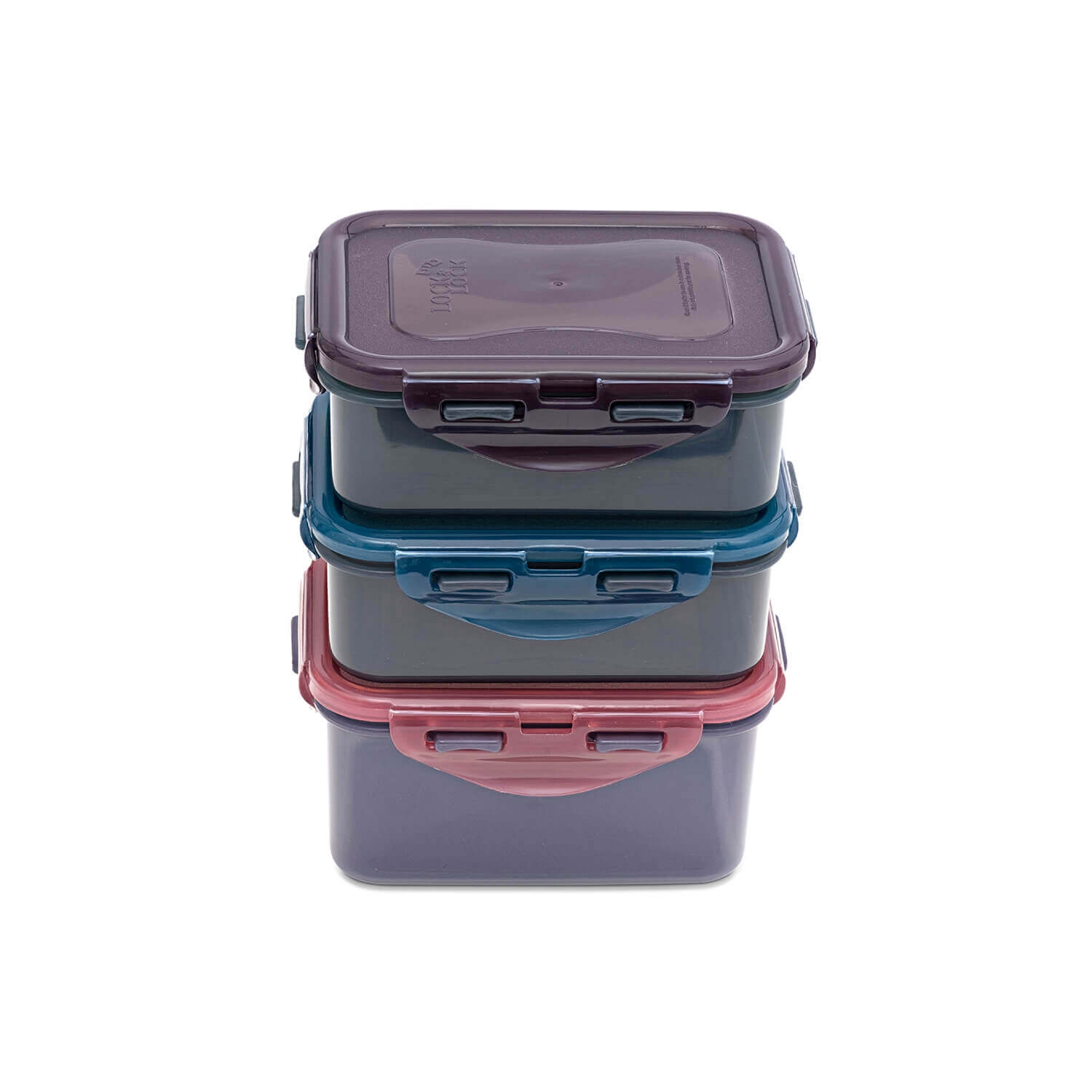 Image of Lock And Lock Eco 3 Piece Food Container Set, Assorted