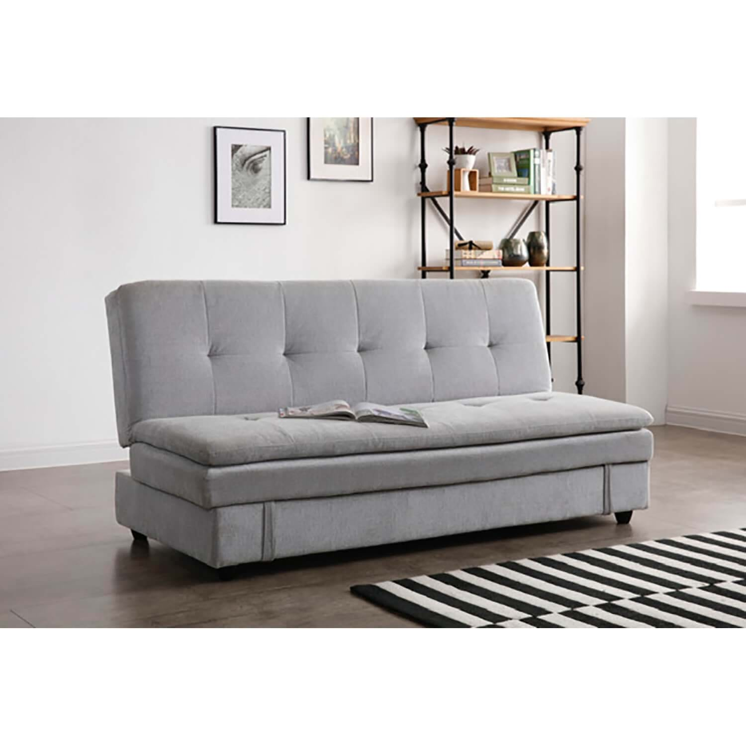 Image of Casa Ollie Fabric Storage Sofabed, Misty