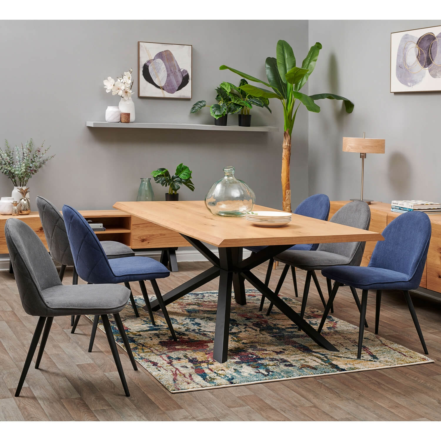 Image of Casa Adelaide Table & 6 Chairs Dining Set