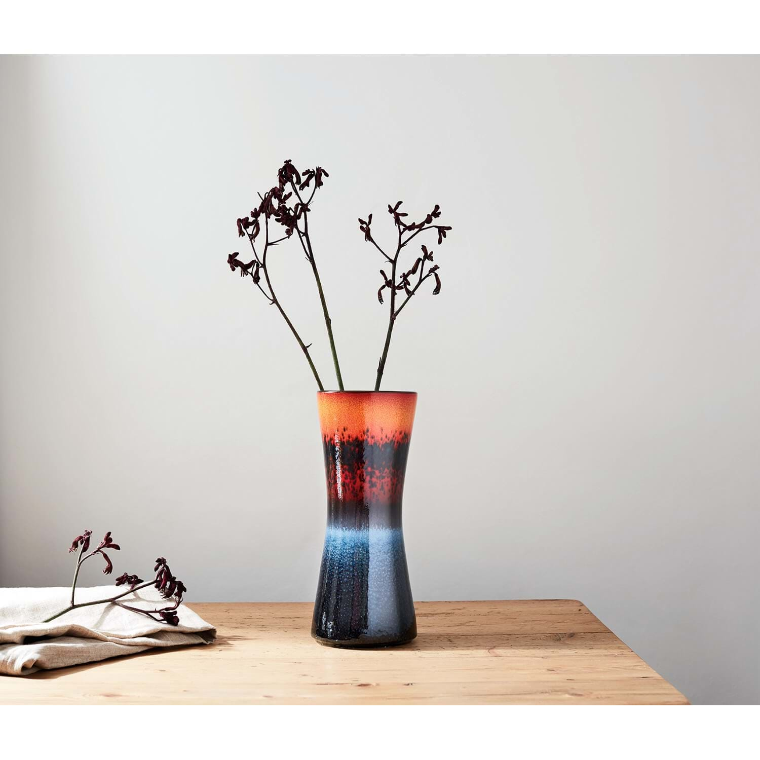 Image of Poole Pottery Flare Hourglass Vase