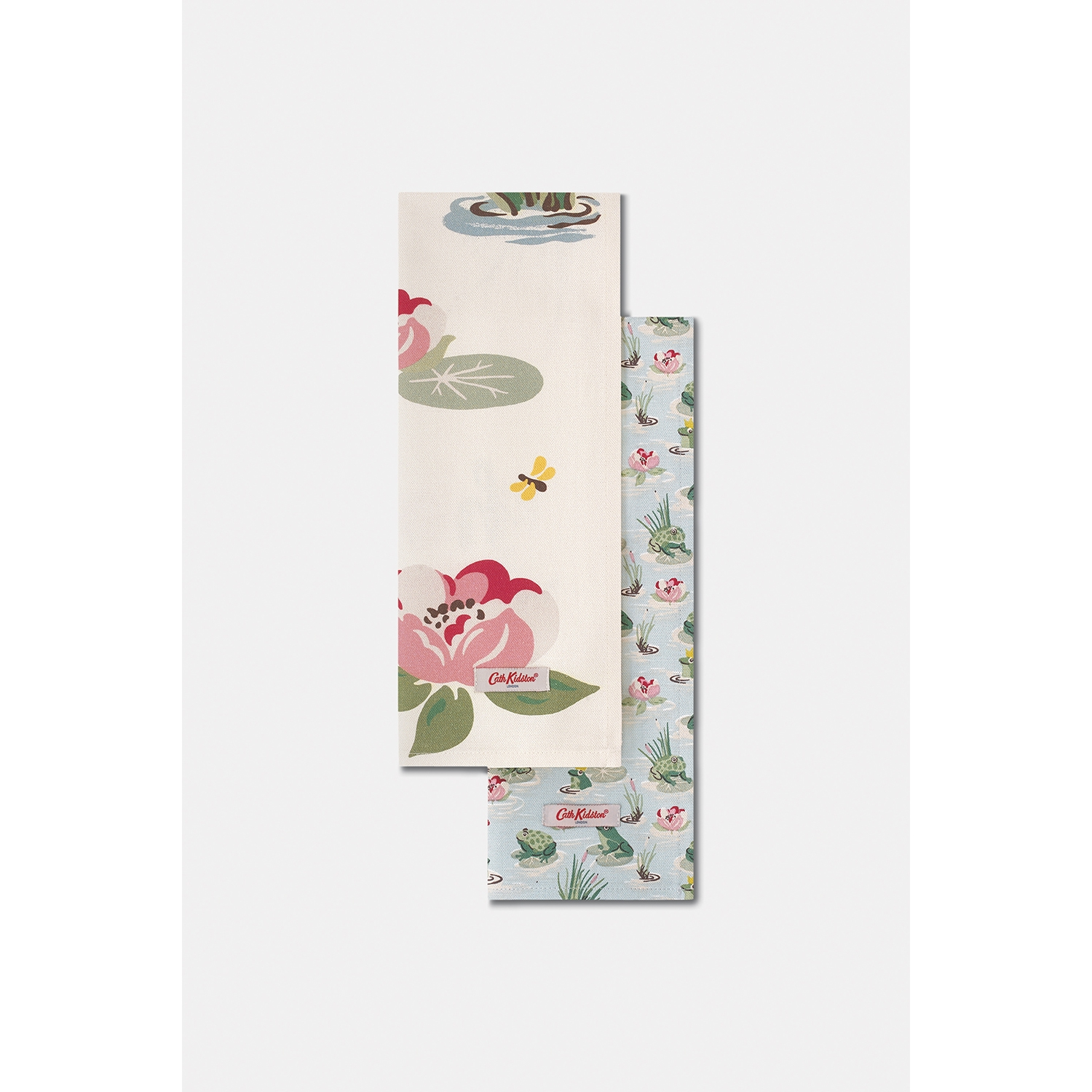 Image of Cath Kidston Frogs Tea Towels, Set Of Two, Green/cream