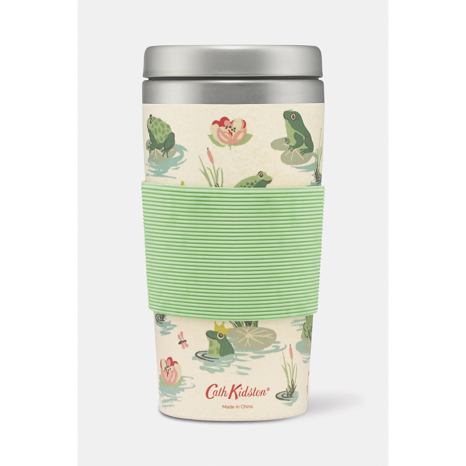 Image of Cath Kidston Frogs Bamboo Travel Cup, Green