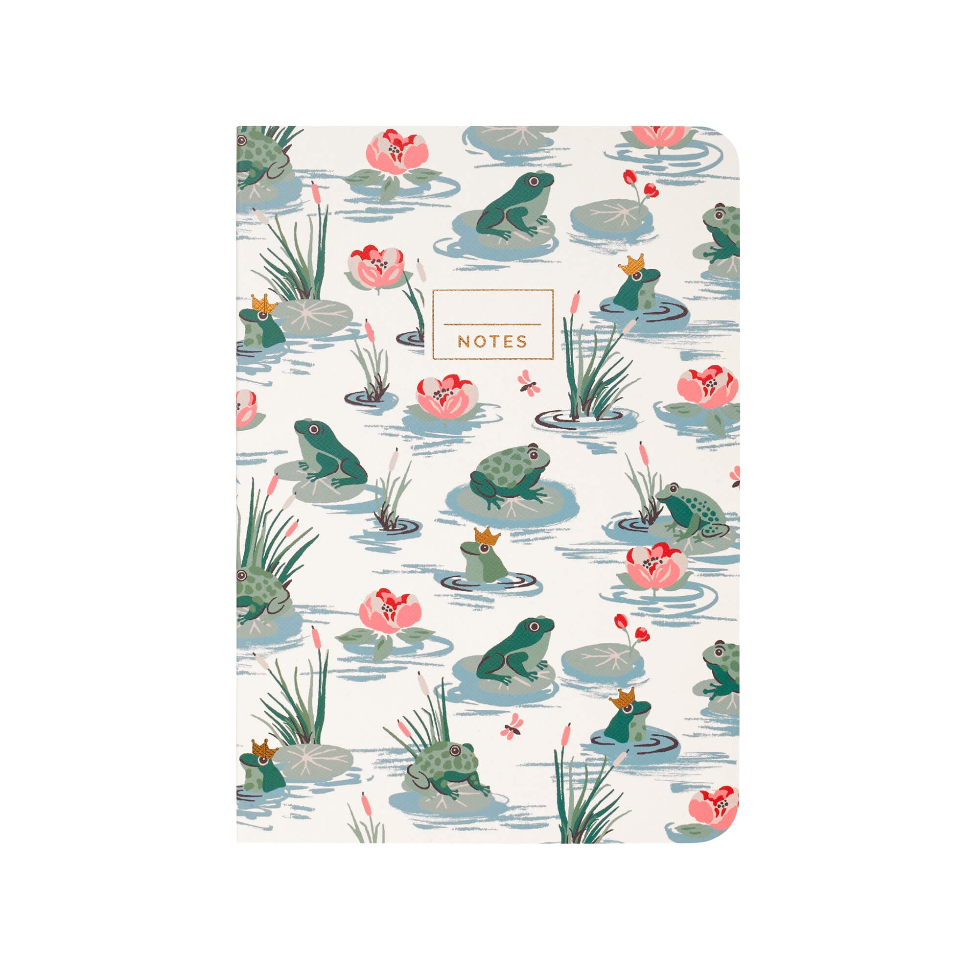 Image of Cath Kidston Frogs A5 Notebook, Cream