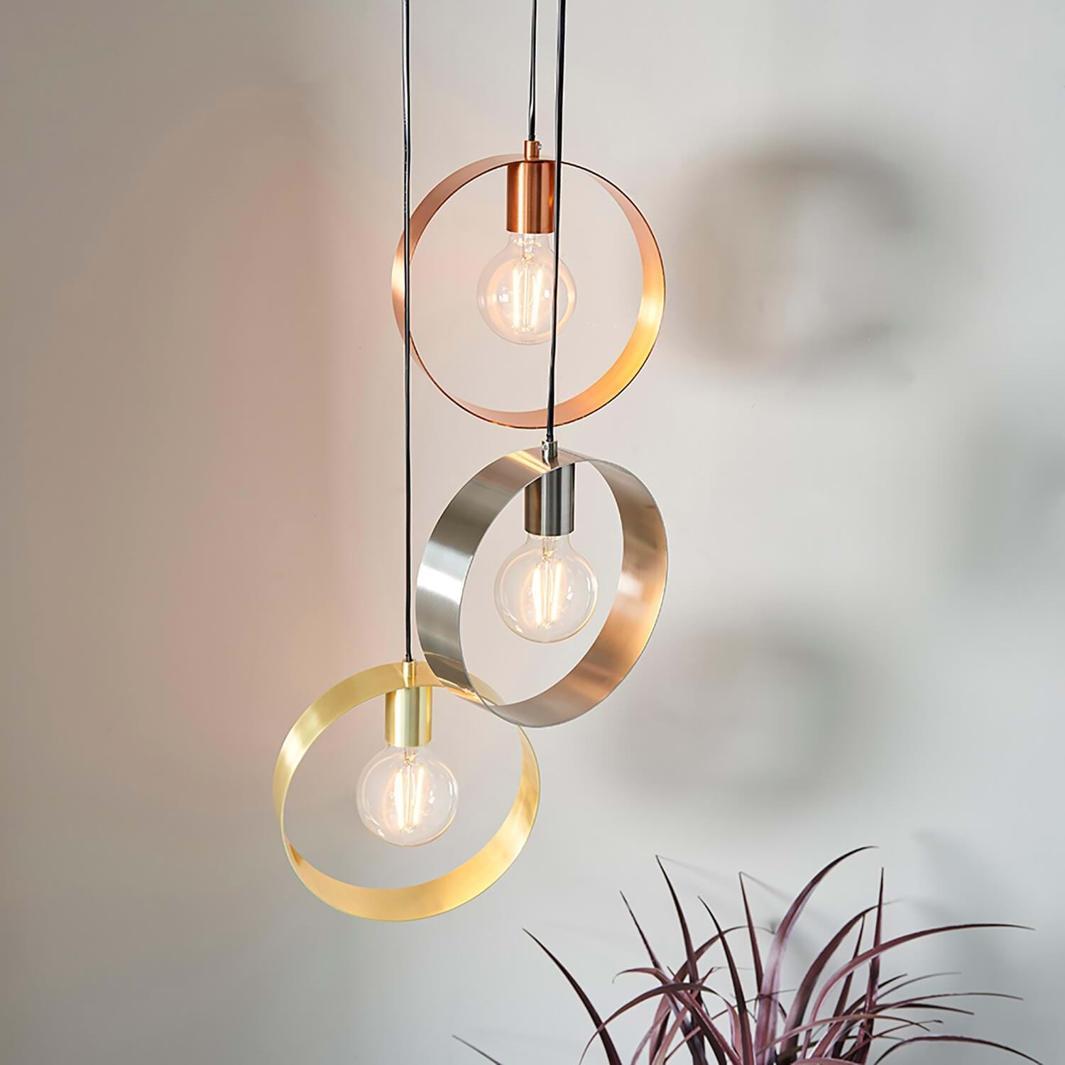 Image of Endon Circular 3 Light Pendant
