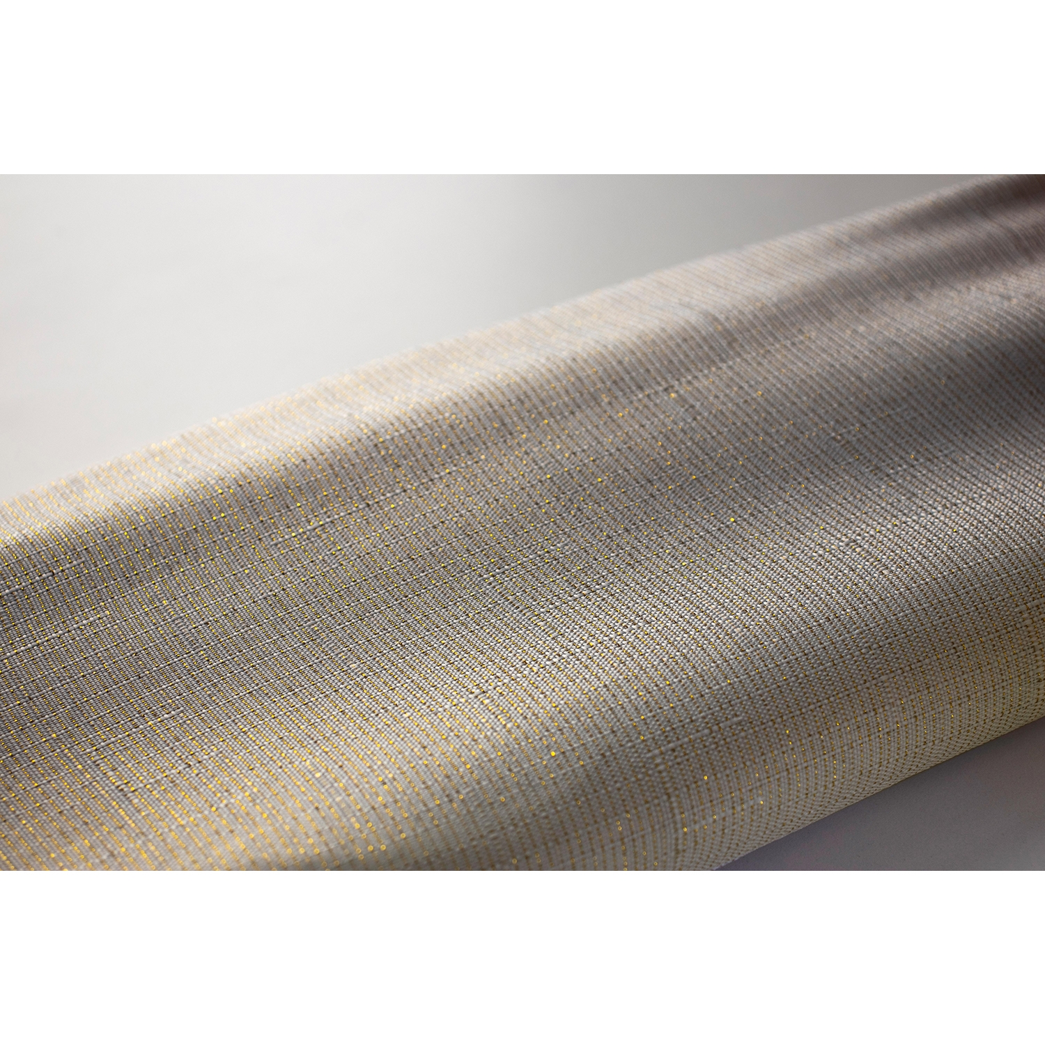 Image of Euroshowers, Gold Thread Shower Curtain, White