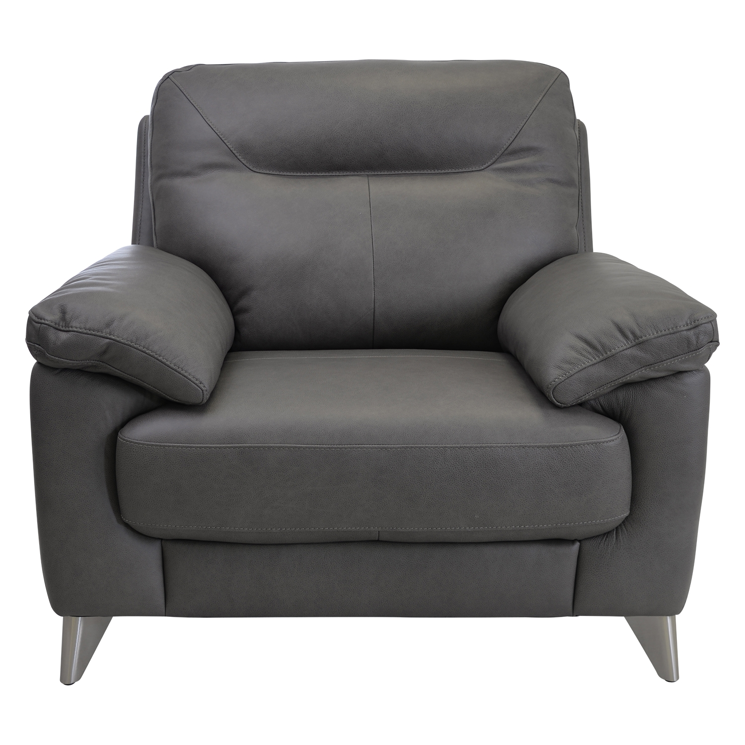 Image of Casa Maya Leather Chair, Rangers Charcoal