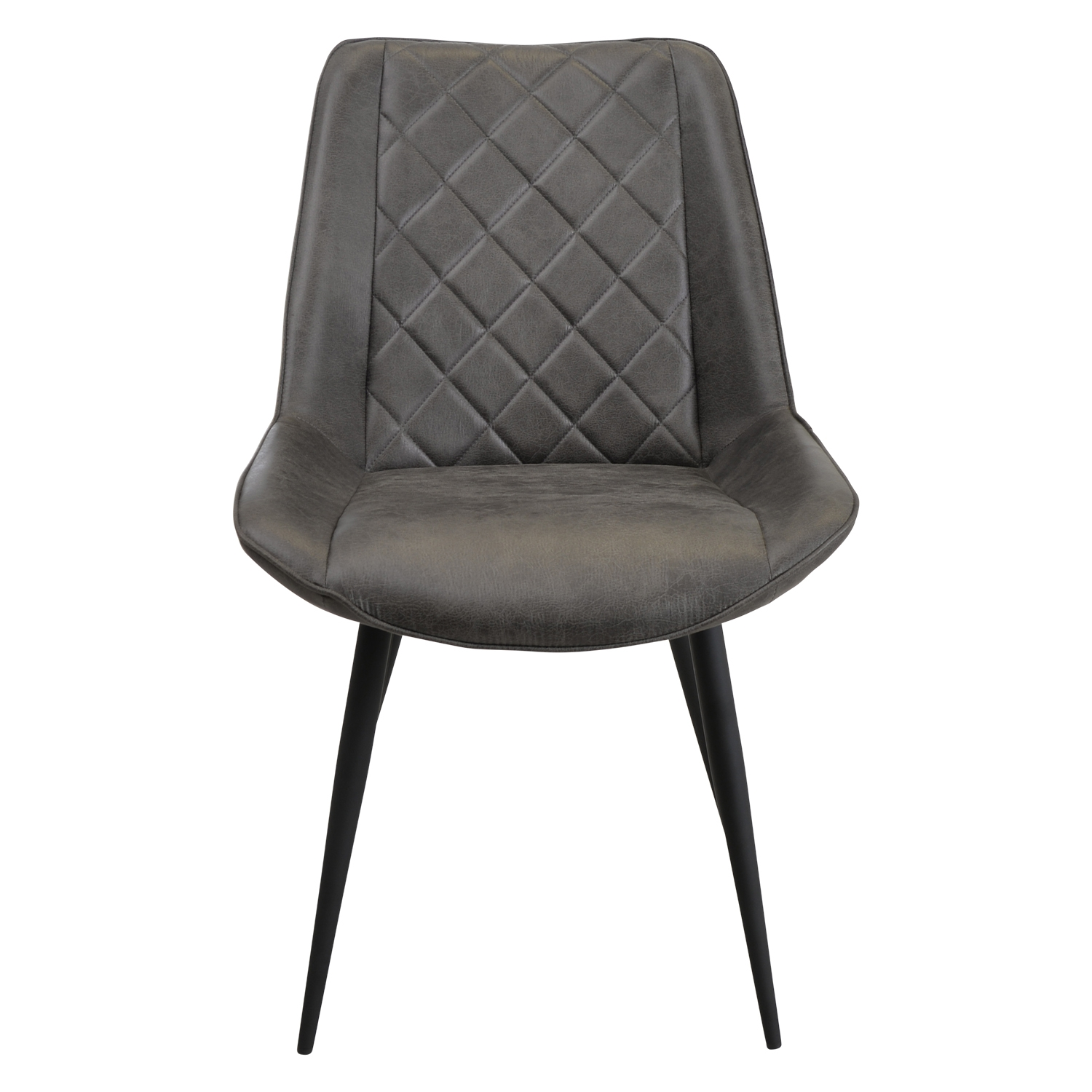 Image of Casa Brent Leather Dining Chair, Grey