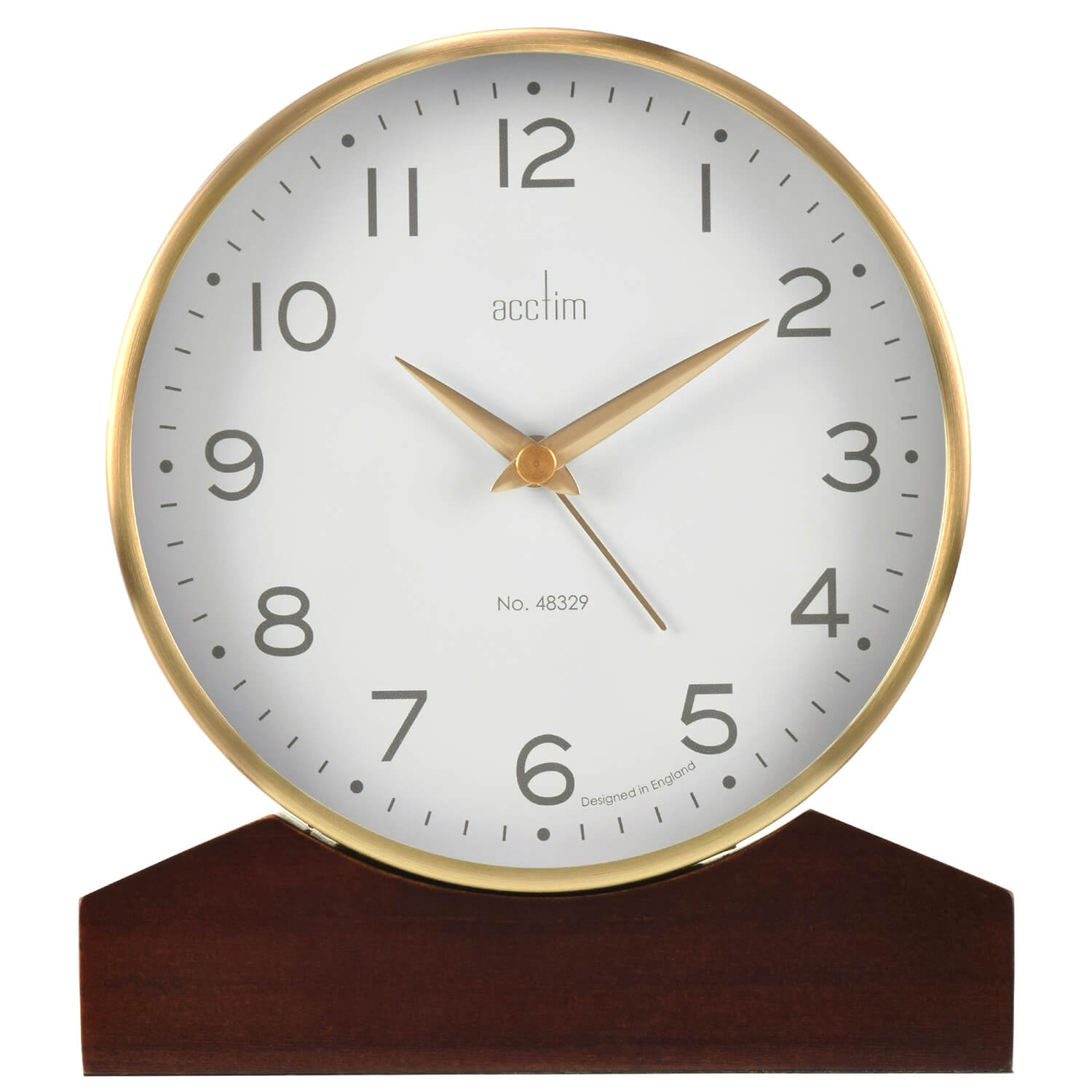 Image of Acctim Lannister Table Clock, Gold