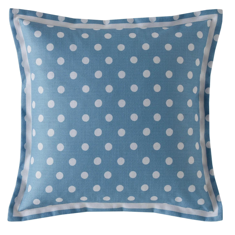 Image of Cath Kidston Button Spot Cushion, Blue