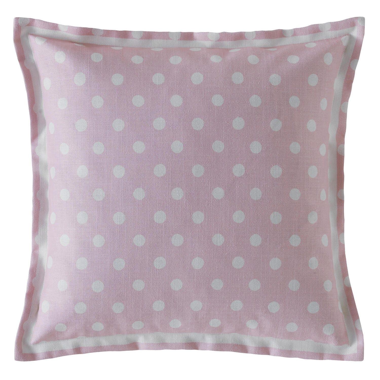 Image of Cath Kidston Button Spot Cushion, Blush