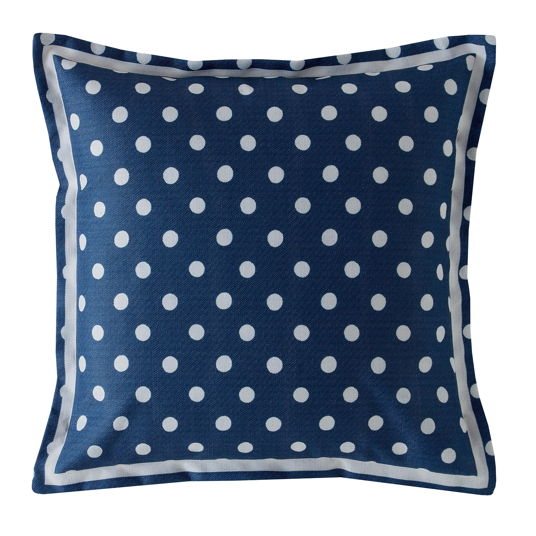 Image of Cath Kidston Button Spot Cushion, Navy