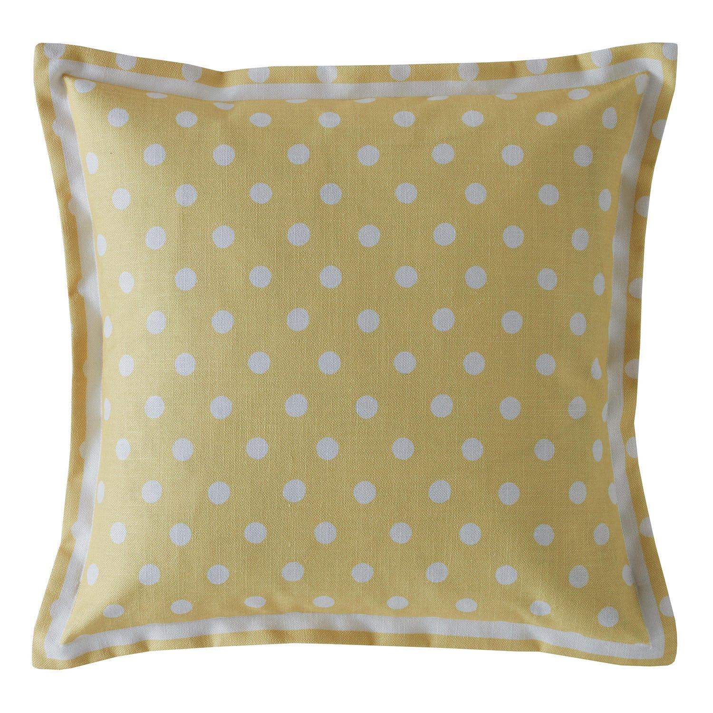 Image of Cath Kidston Button Spot Cushion, Yellow