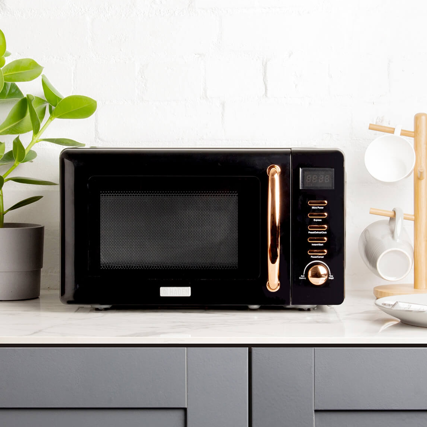 Image of Haden Salcombe Microwave, Black