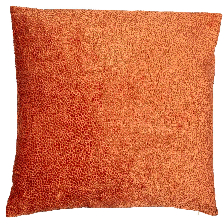 Image of Malini Burnt Velvet Cushion 43 x 43cm, Orange