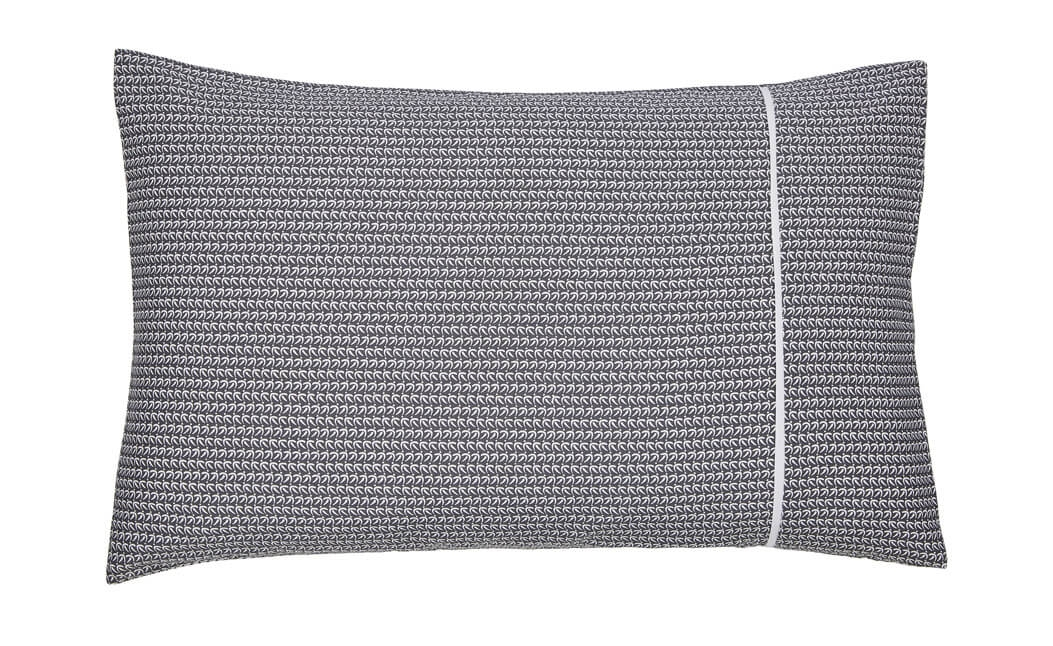 Image of Bedeck Amaya Standard Pillowcase, Charcoal